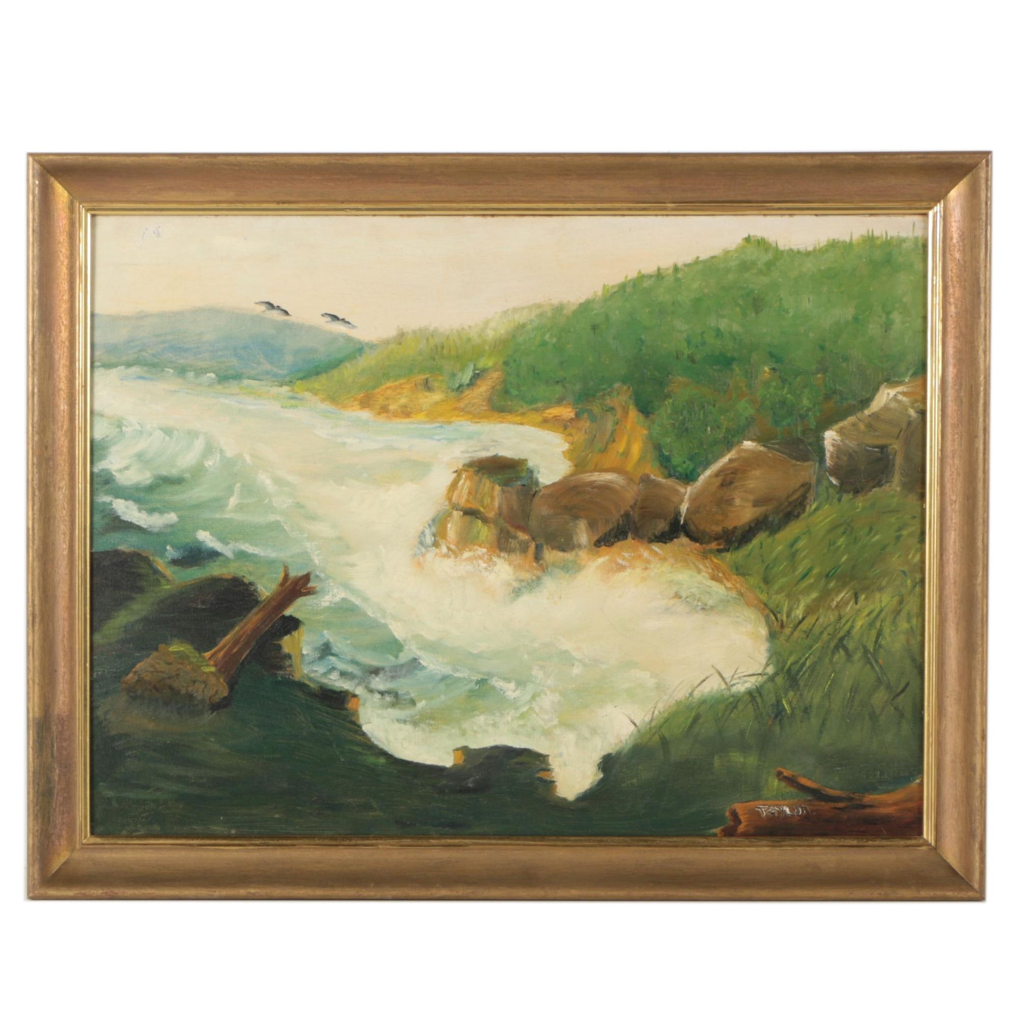 Taylor Oil Painting of a Shoreline