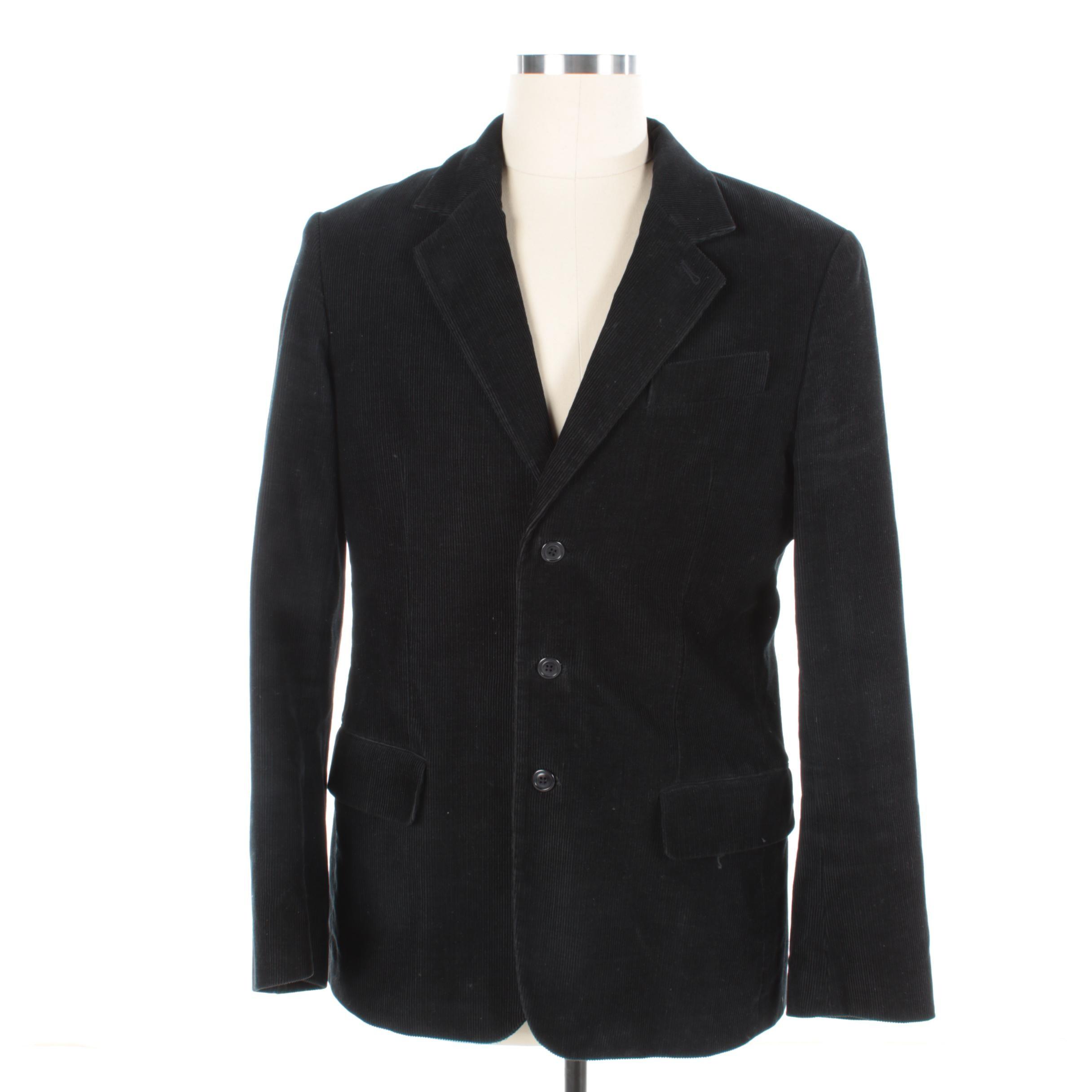 Men's Juicy Couture Black Corduroy Blazer