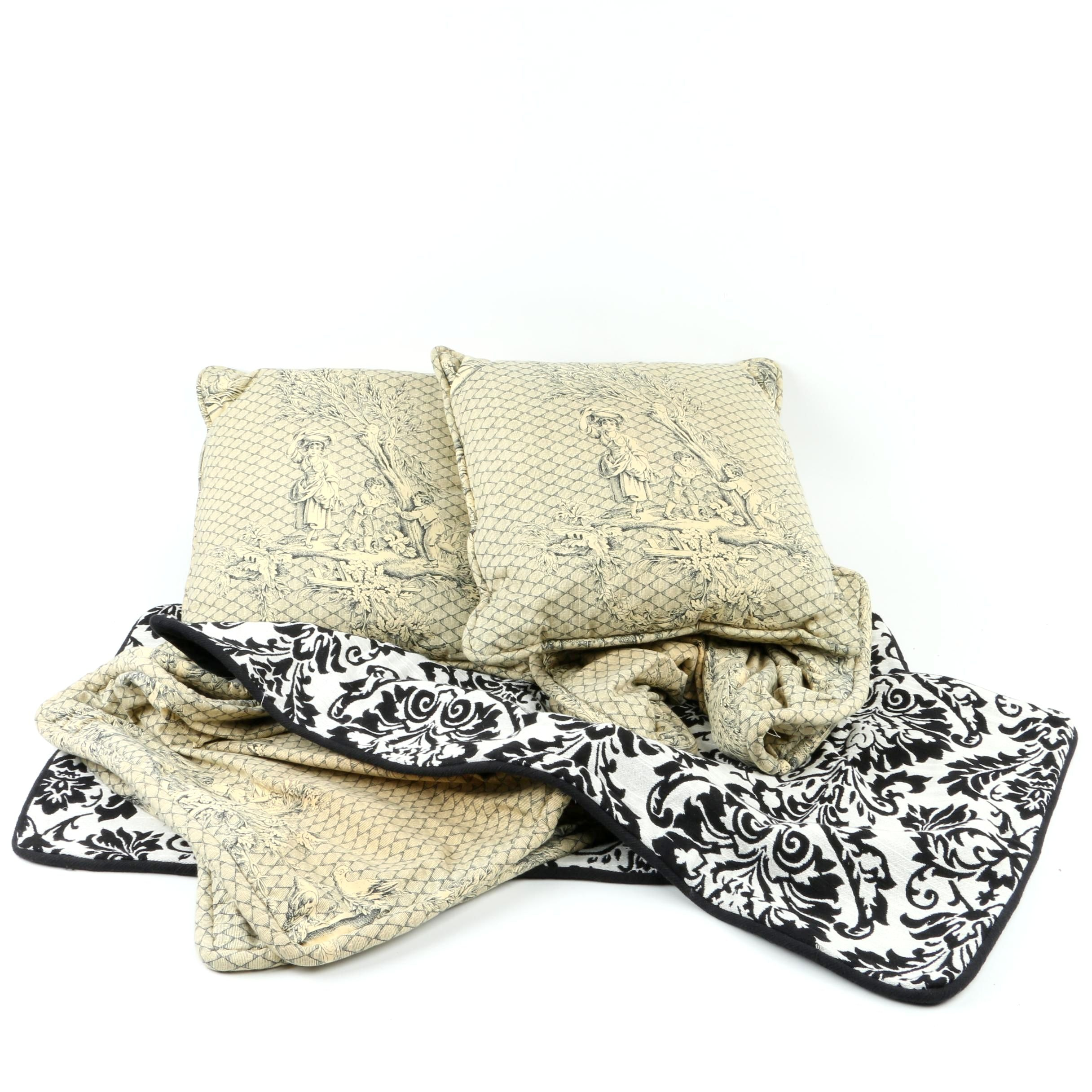 Collection of Decorative Pillows and Cases
