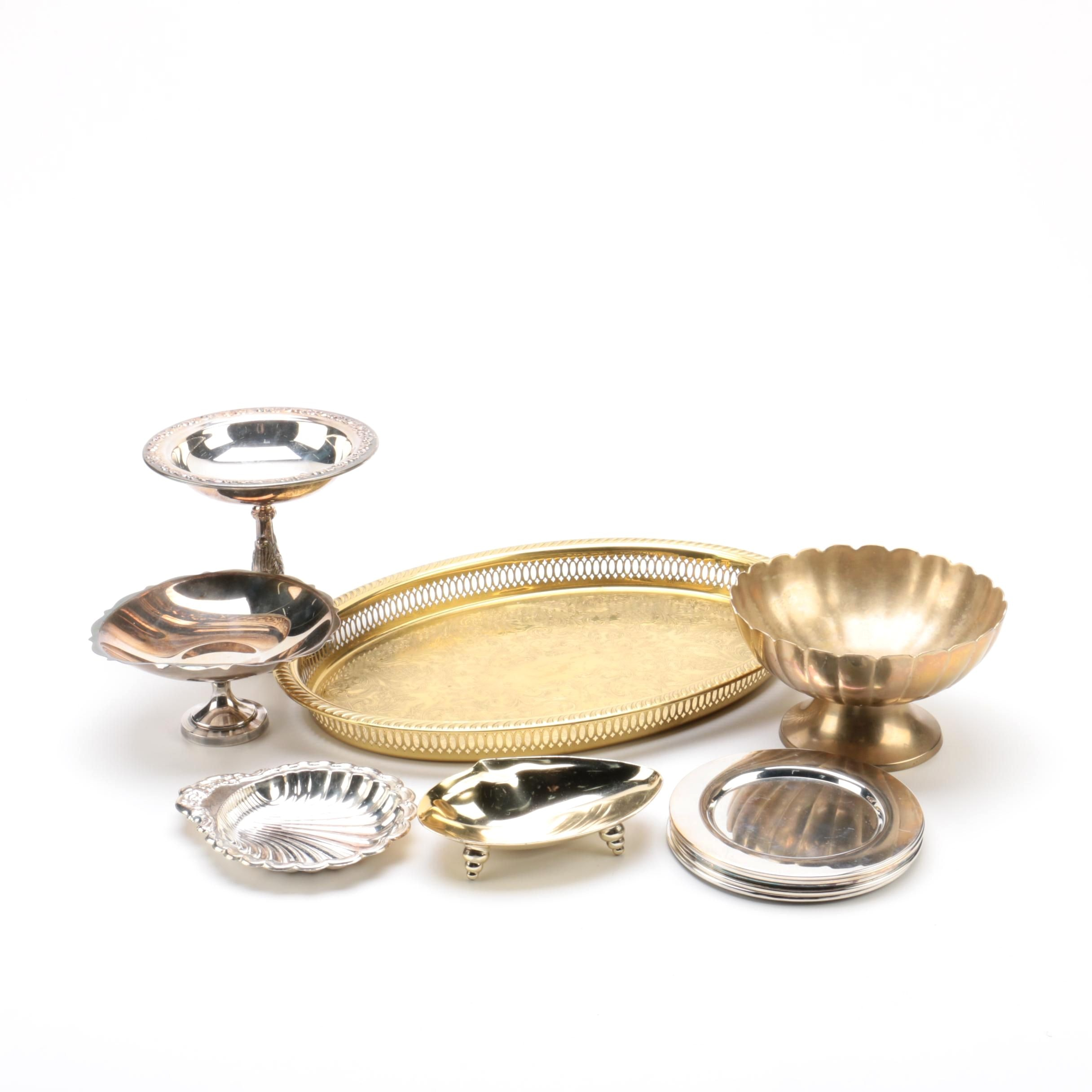 Silver Plate and Brass Serveware