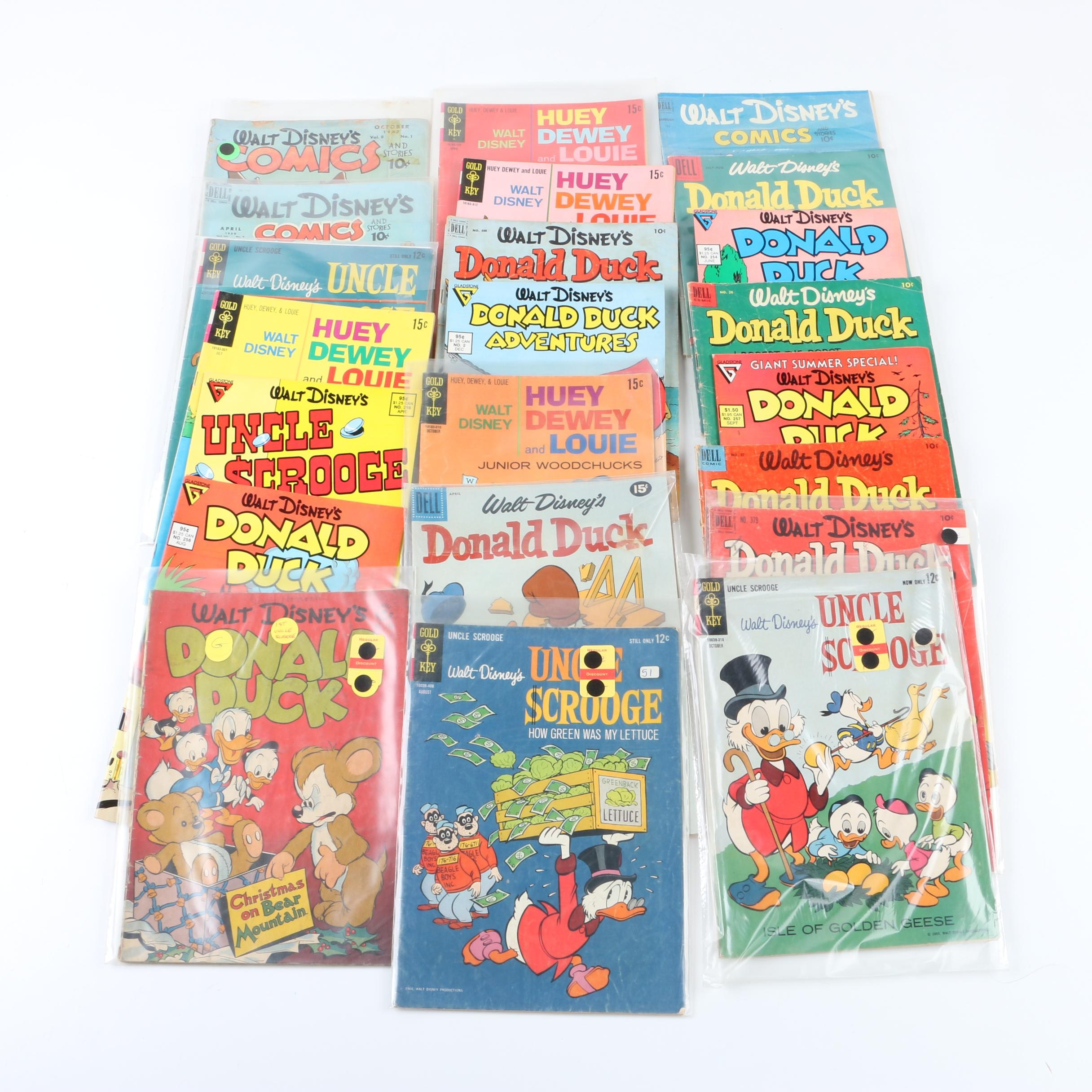 """Donald Duck Comic Books Including Gold Key """"Uncle Scrooge"""""""