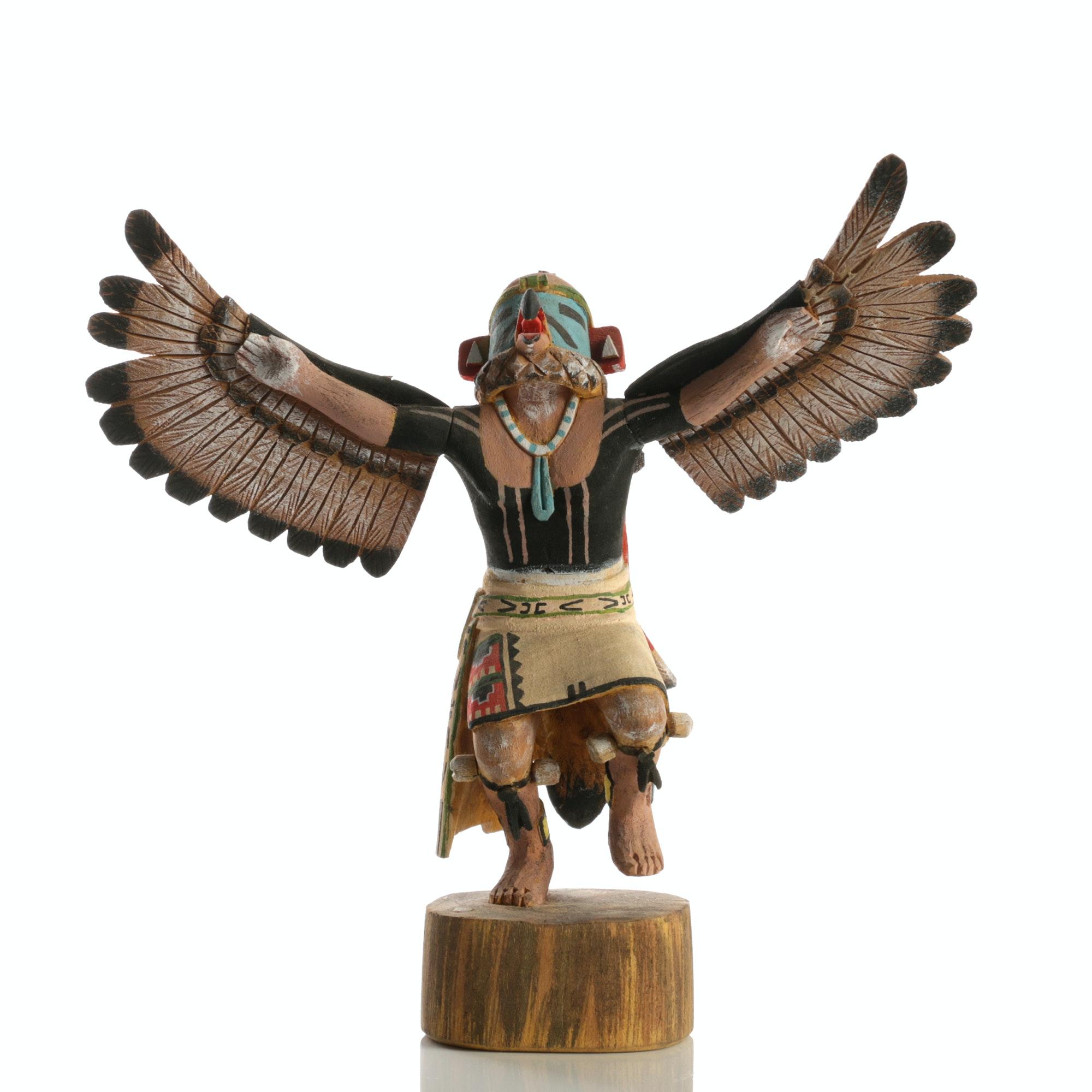 "Kachina Wood Doll ""Eagle Dancer"""