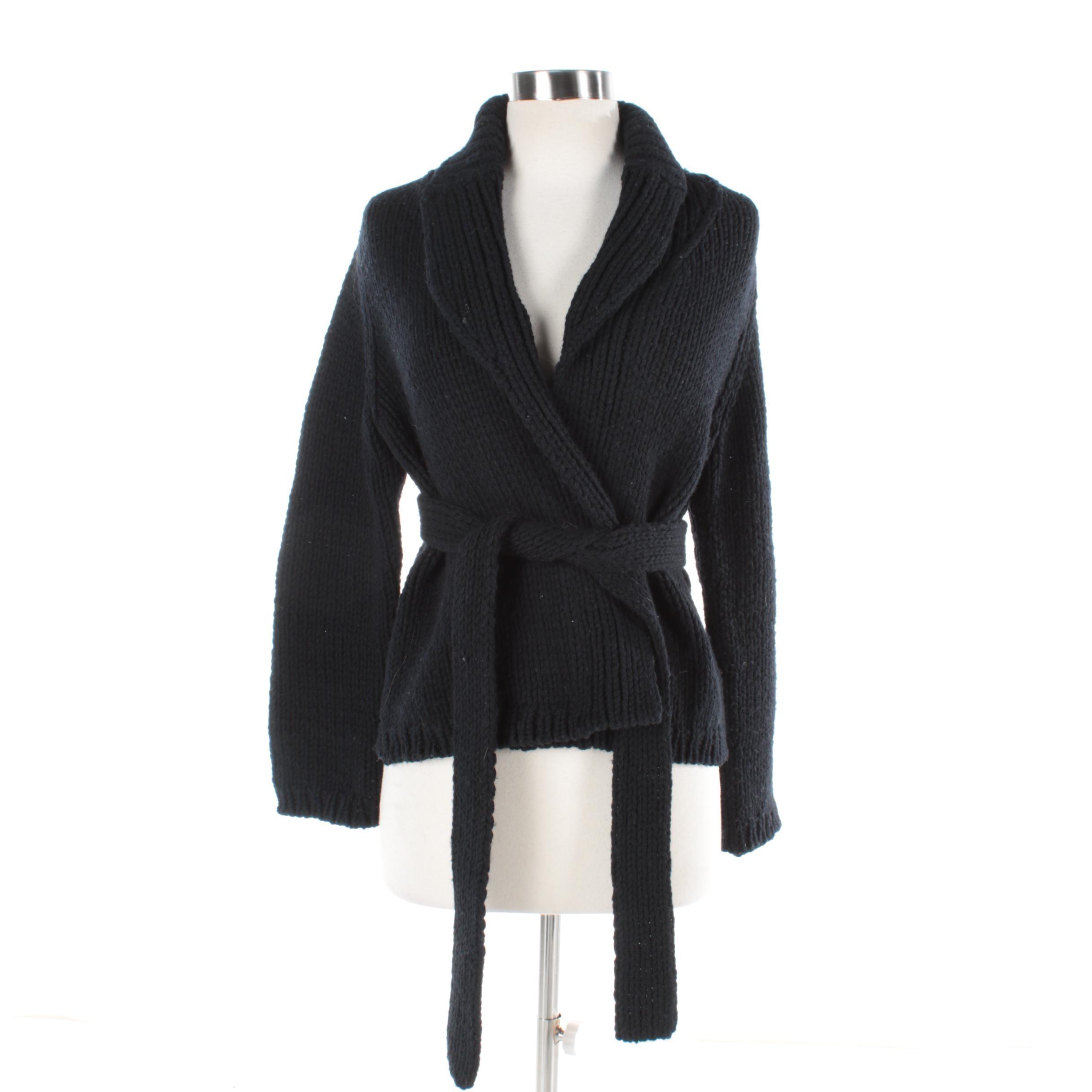 Women's Comme des Garçons Black Wool Blend Cardigan