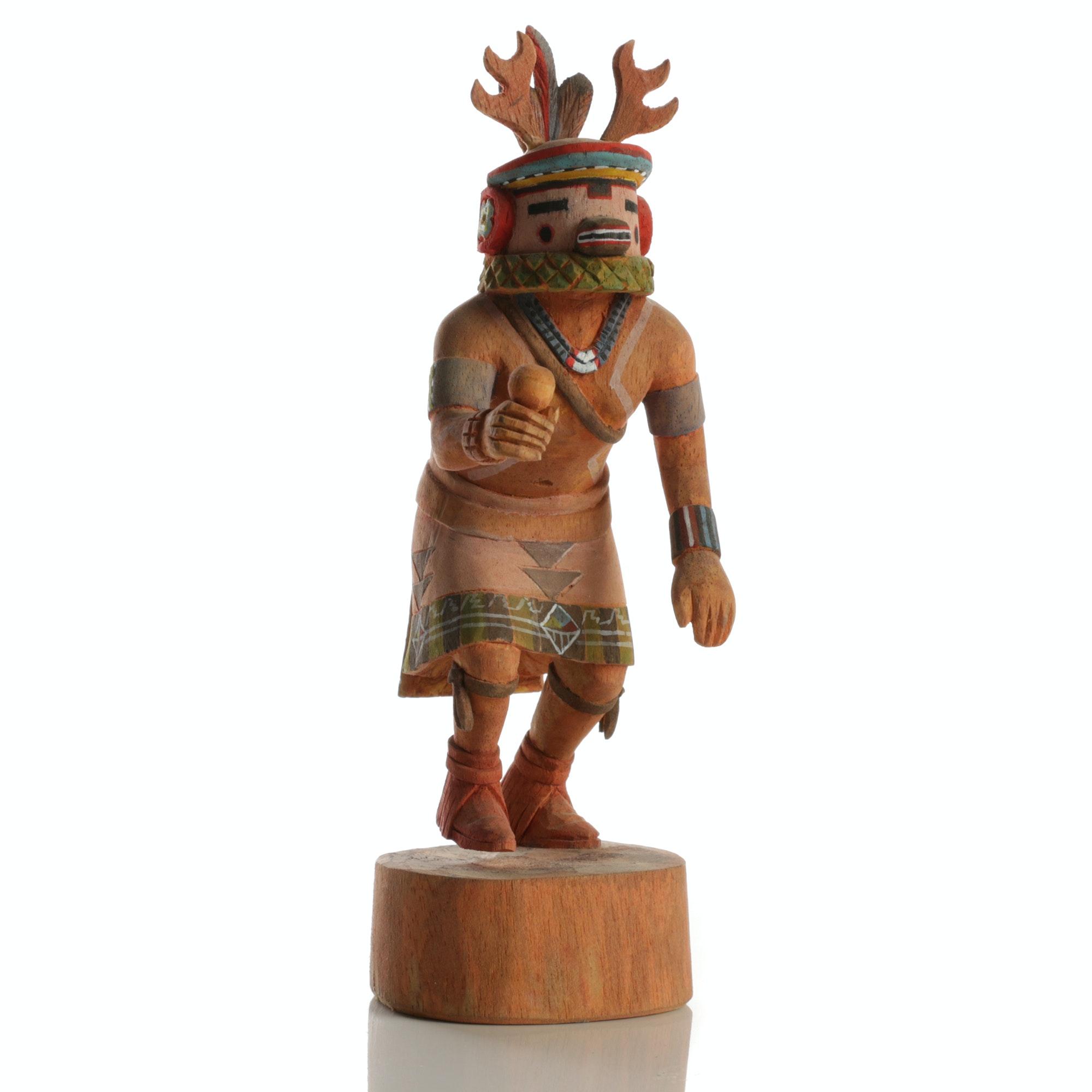"""Kachina Wood Doll """"Deer Dancer"""""""