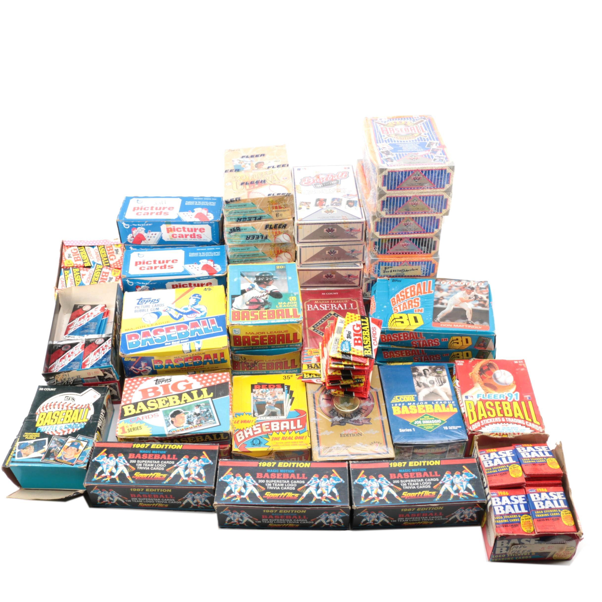 1980s-1990s Topps, Fleer, and Score Baseball Trading Cards