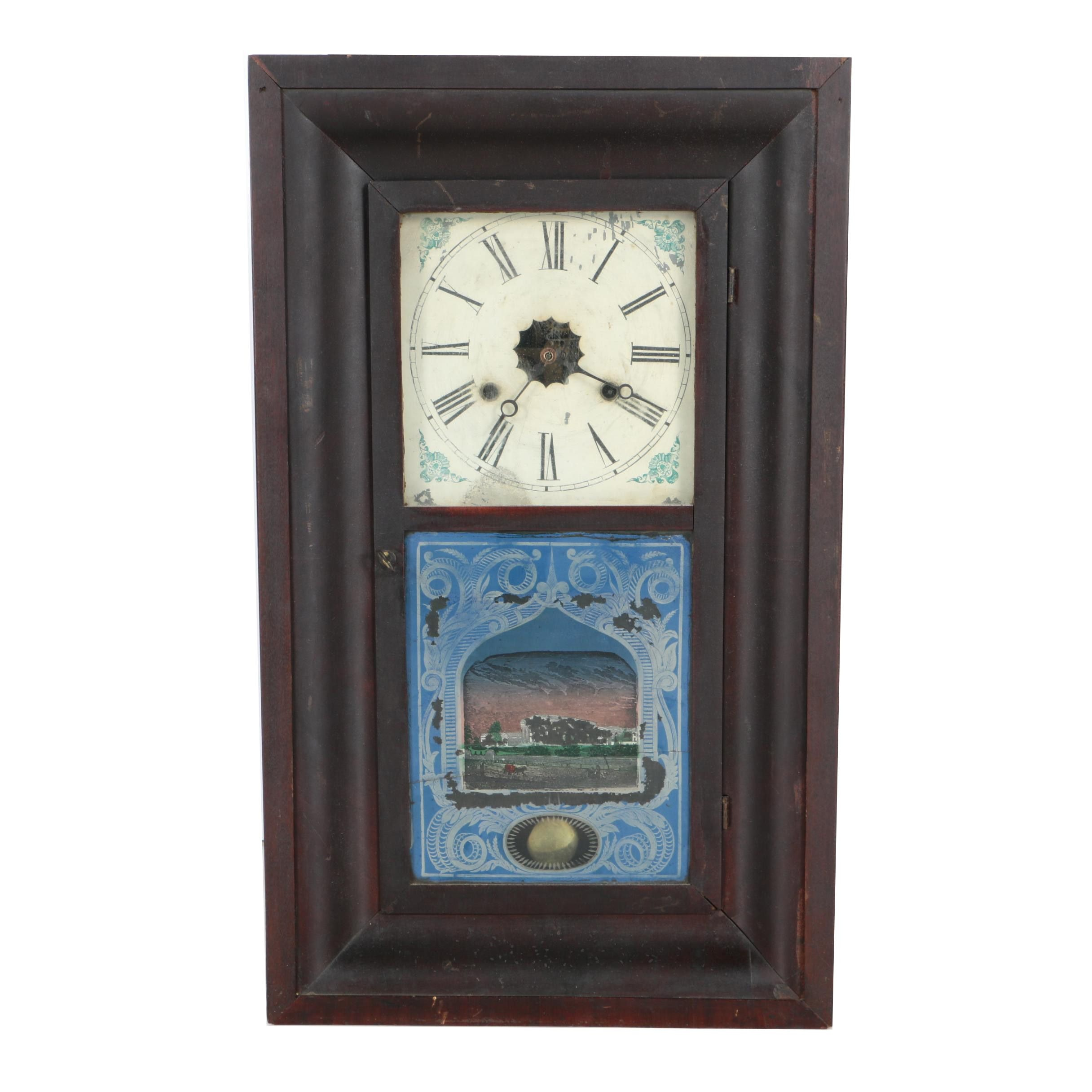 19th Century Chauncey Jerome Ogee Mantel Clock
