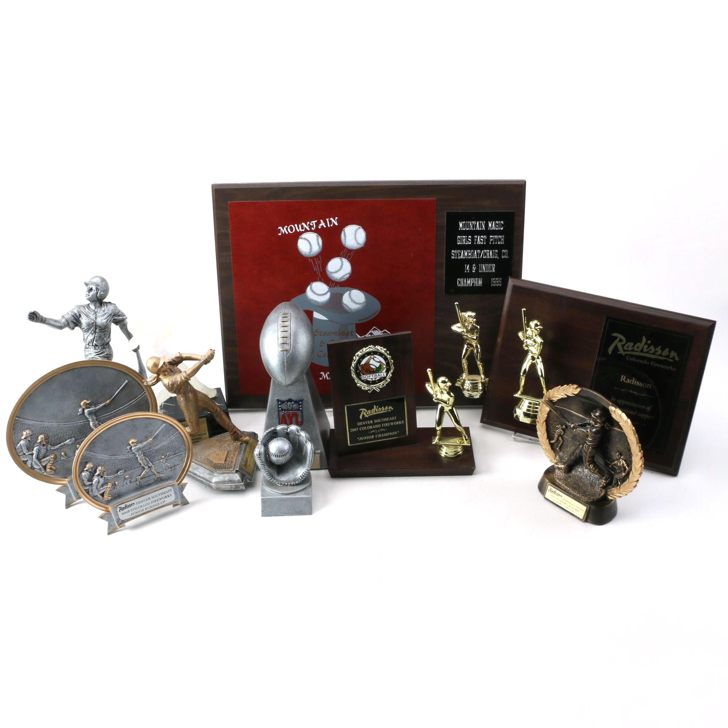 Softball and Football Trophies