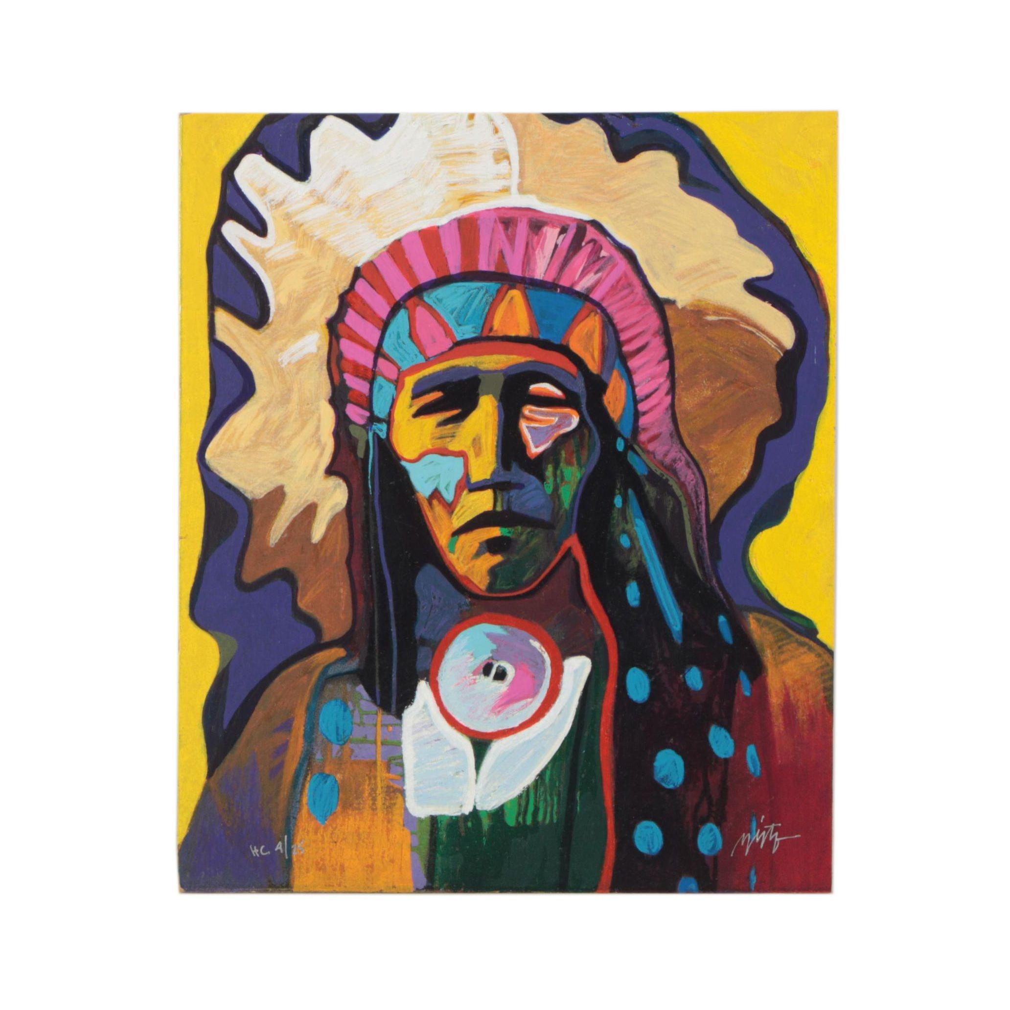 "John Nieto Serigraph Print ""Wild Horse"""