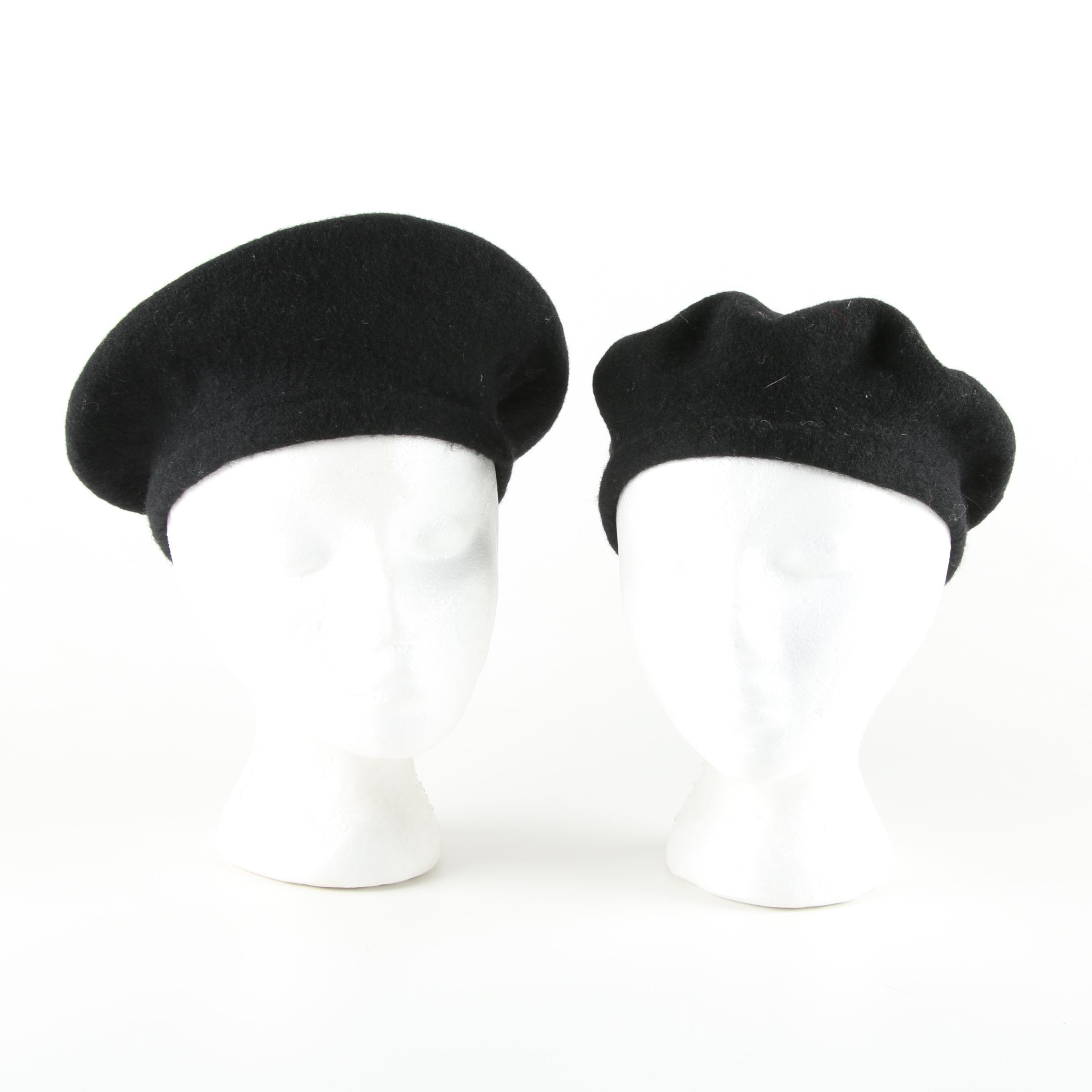 Ralph Lauren Black Wool Berets