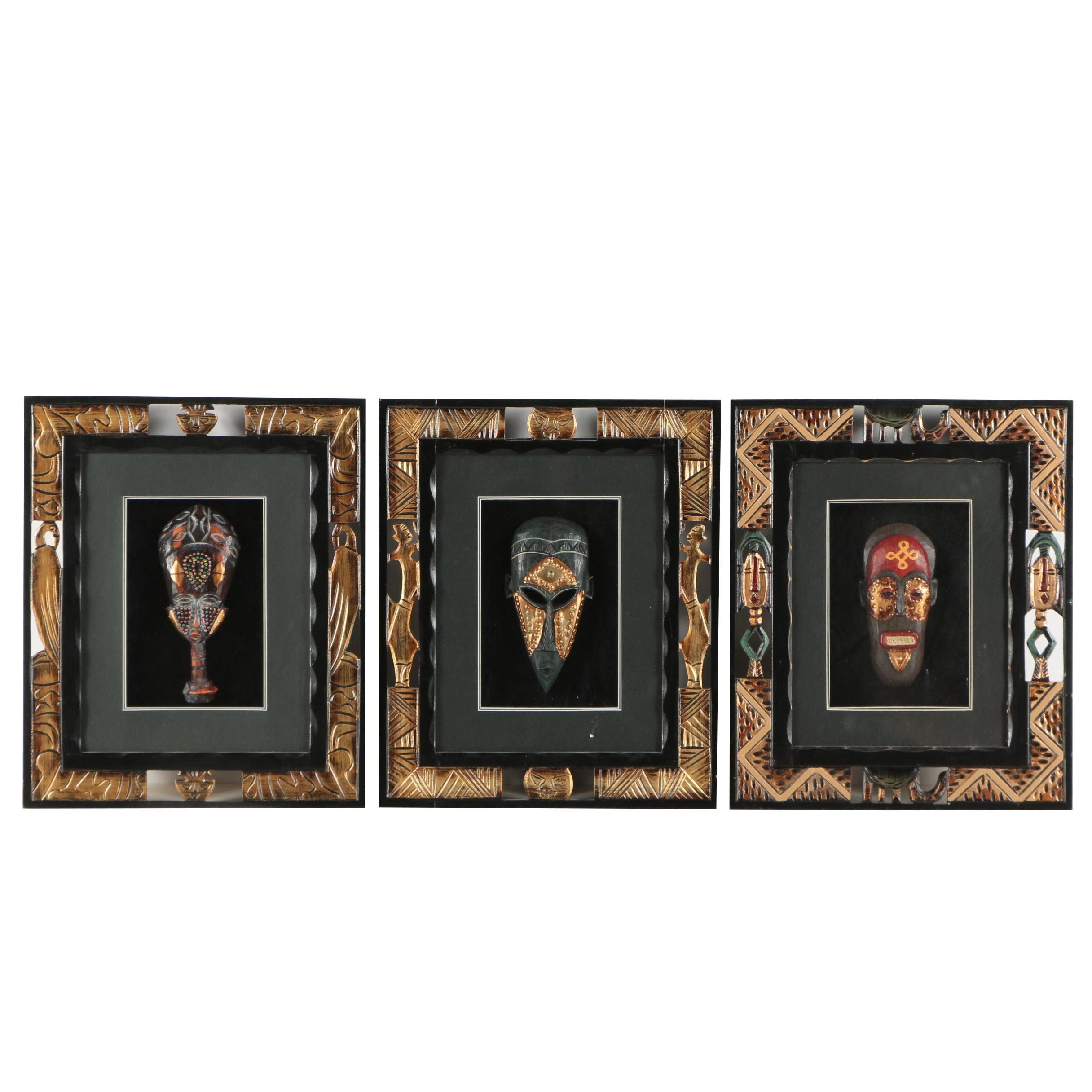 Painted African-Inspired Masks
