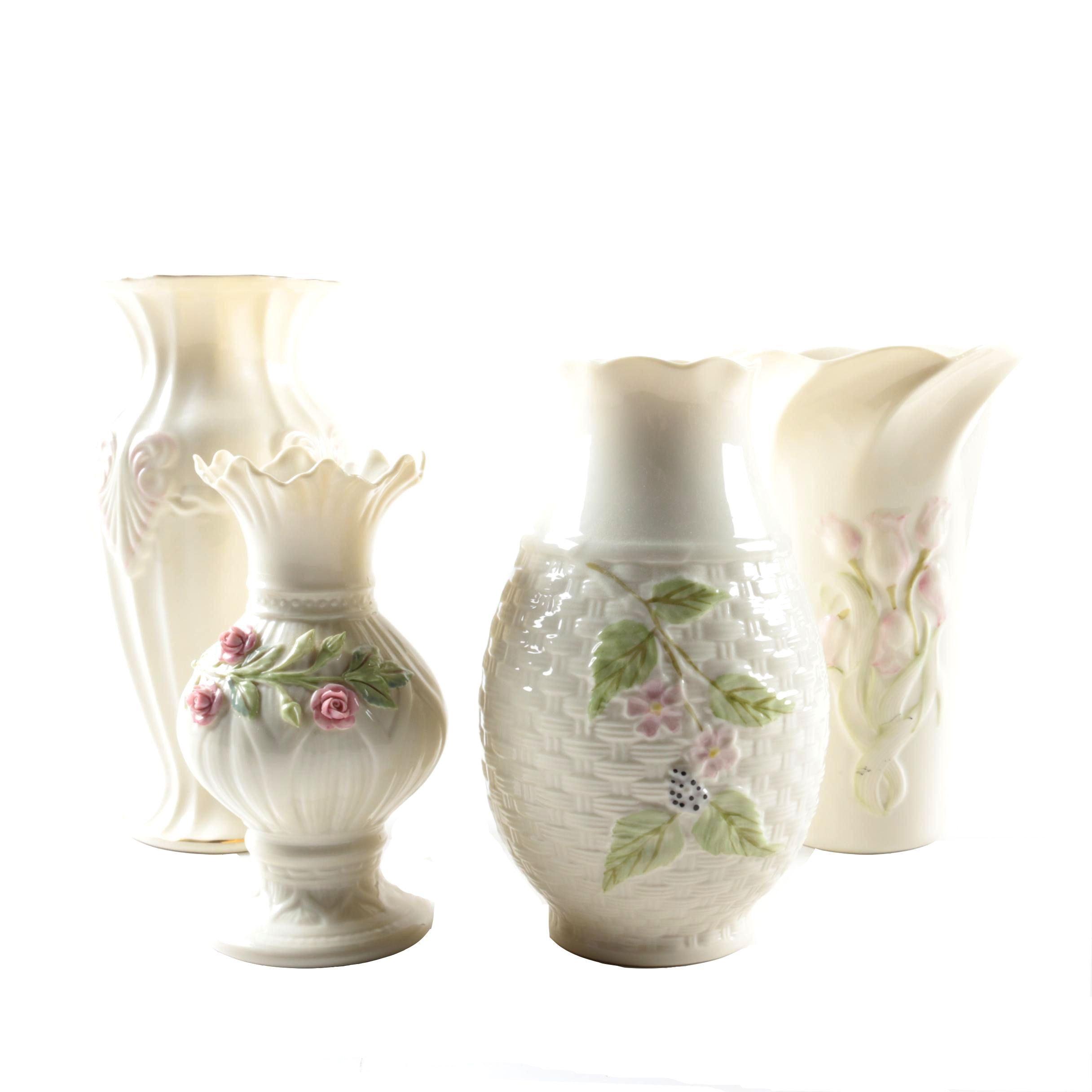 """Belleek Porcelain Vases Including """"Georgian Shell"""""""