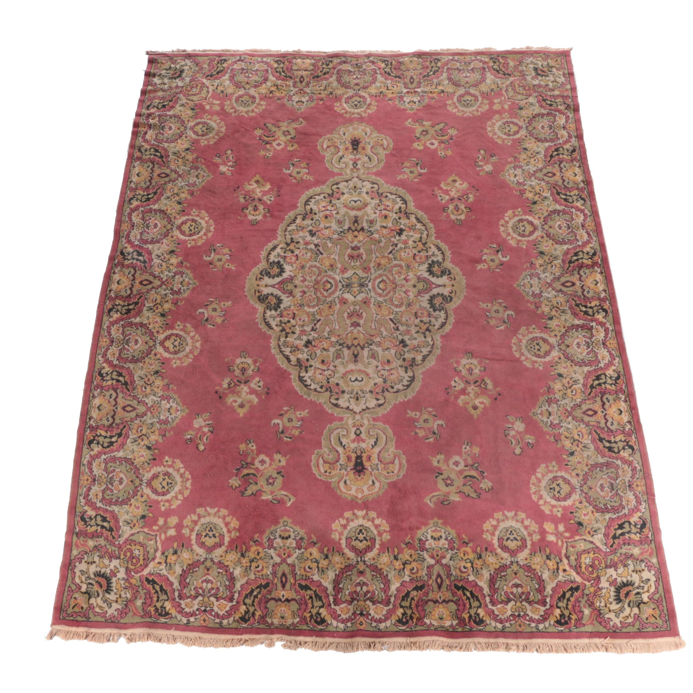 Vintage Power-Loomed Persian-Style Room Size Rug