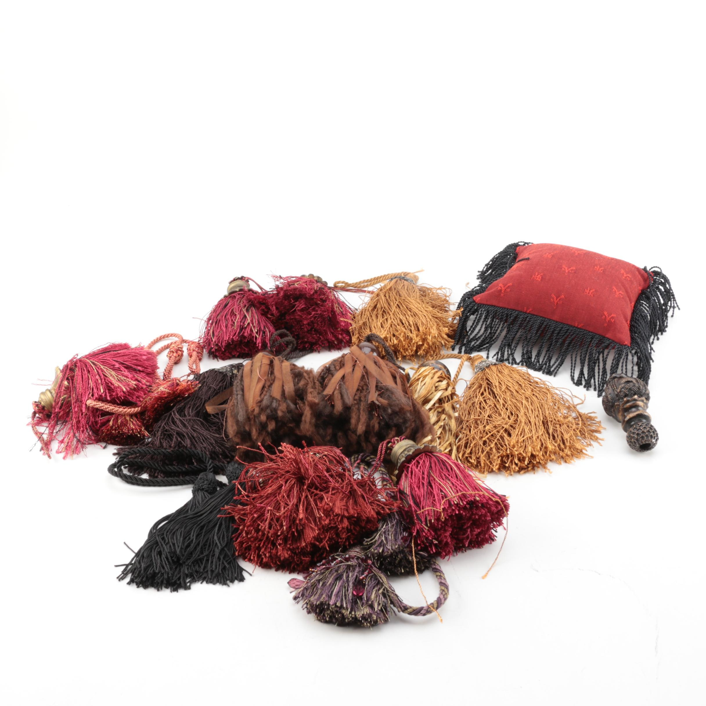 Curtain Tassels and Decorative Pillow