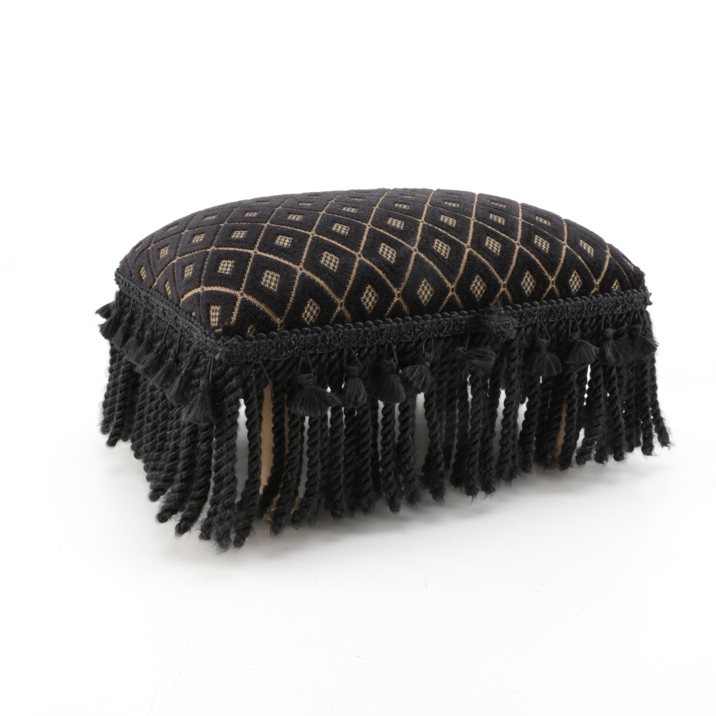 Black Tasseled Footstool by Eastern Accents