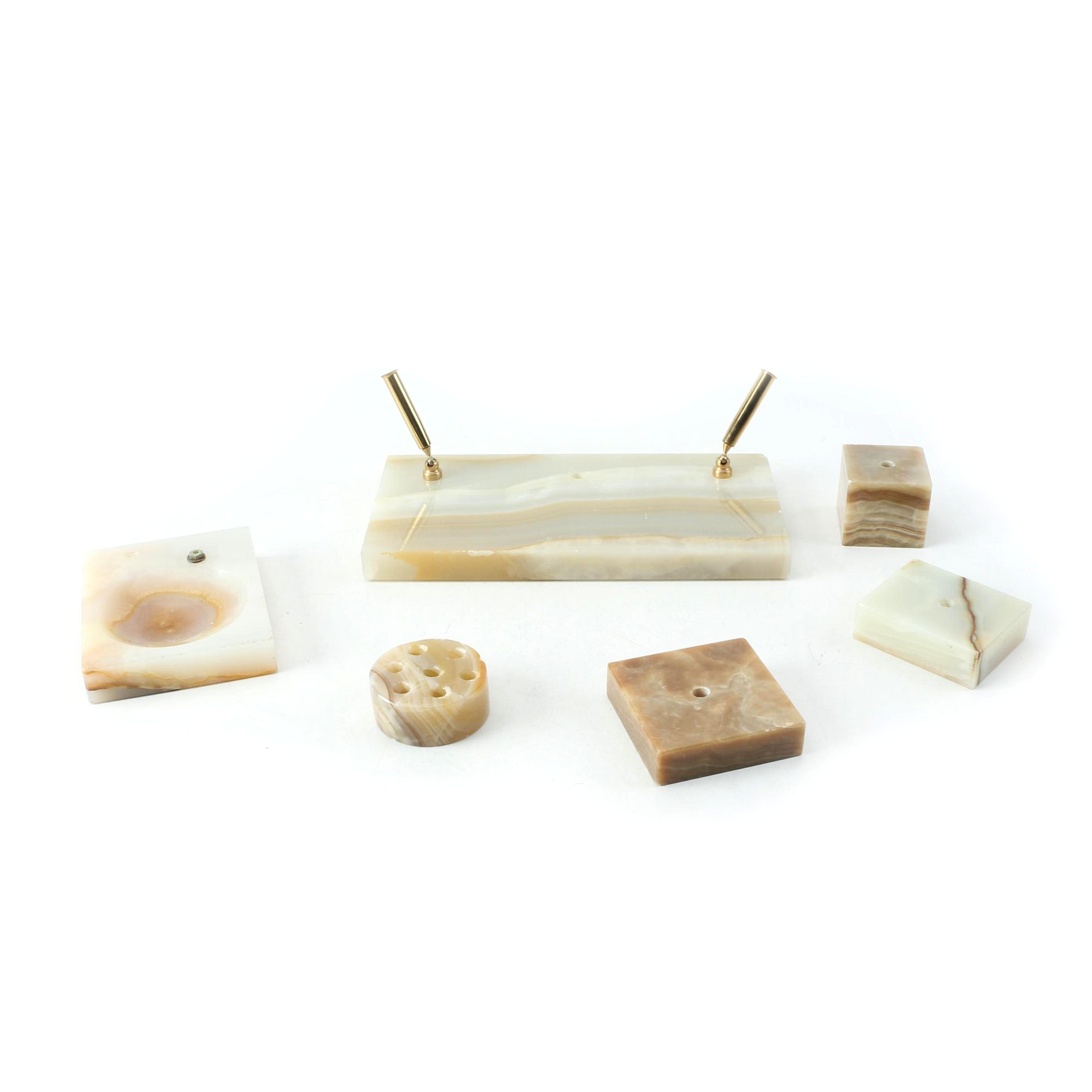 Banded Calcite Office Accessories