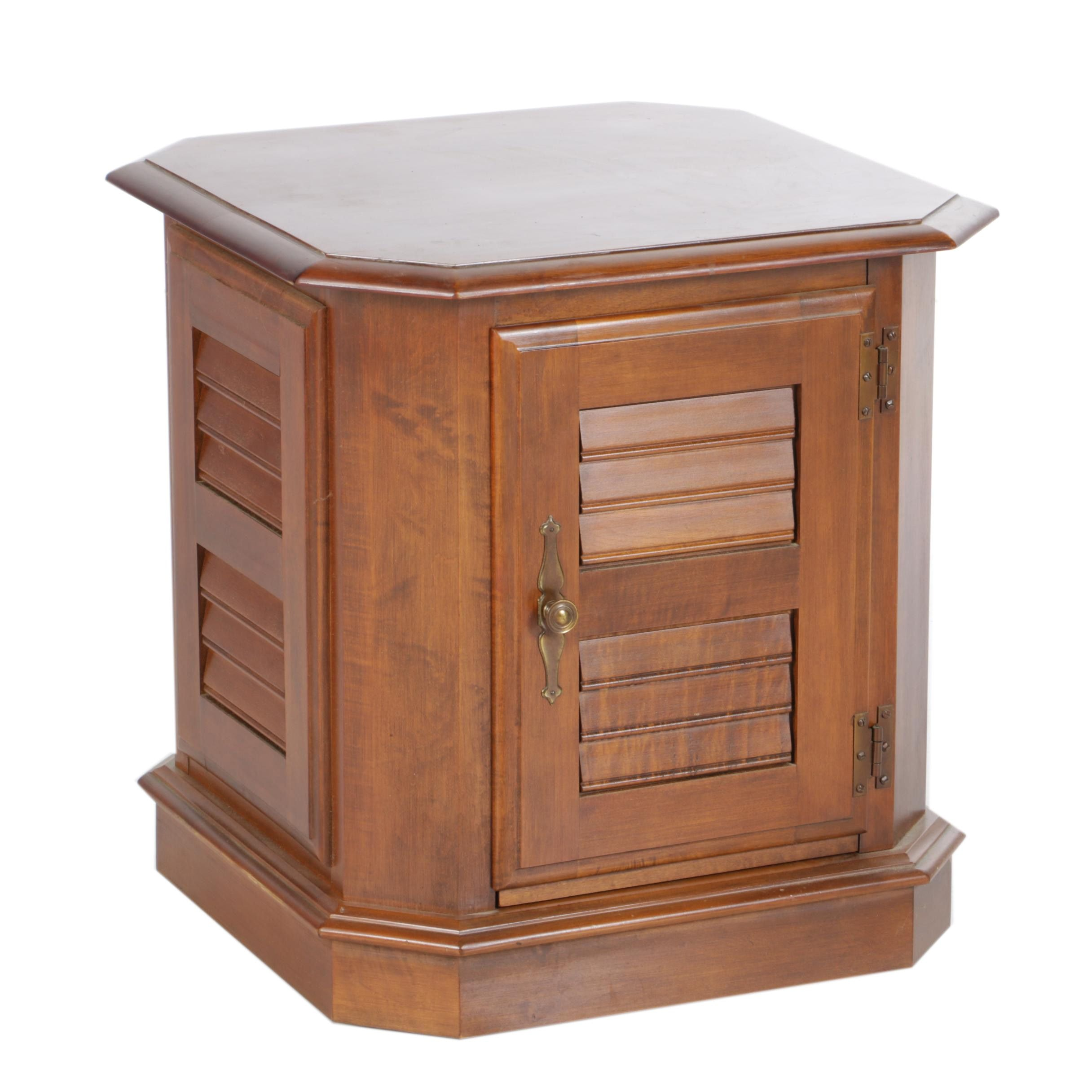 Louvered Style End Table by Heywood Wakefield