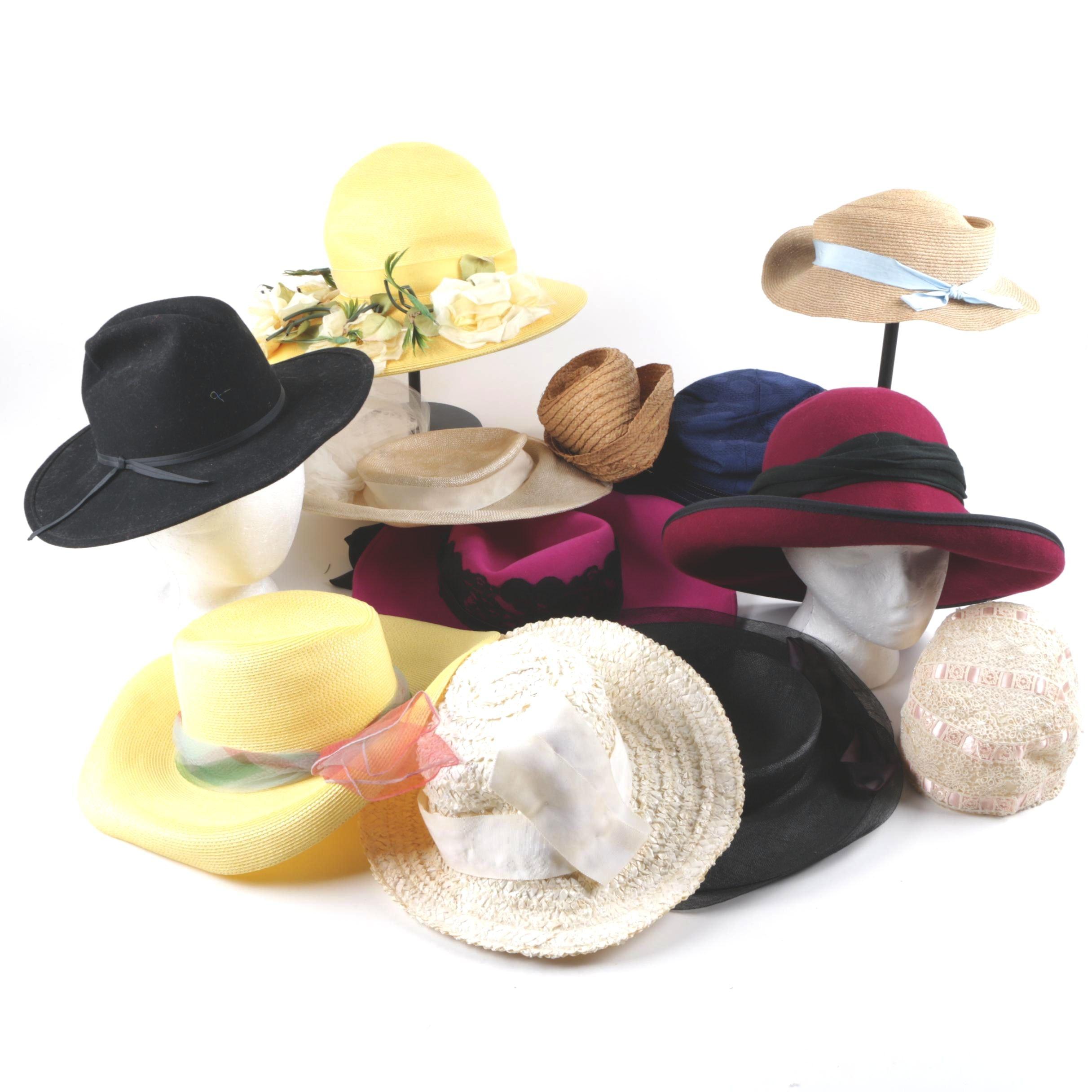 Twelve Women's Vintage Hats