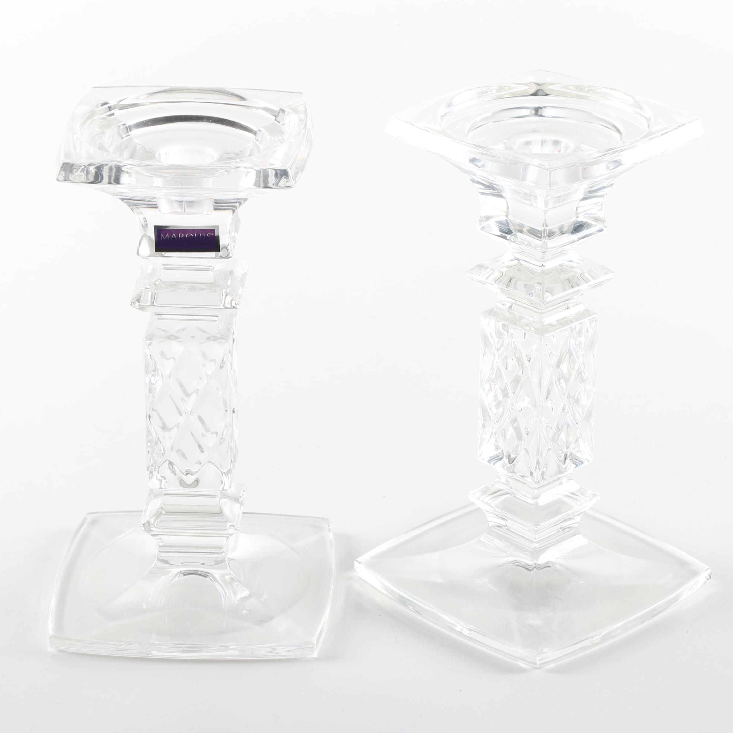 Pair of Marquis by Waterford Crystal Candlesticks