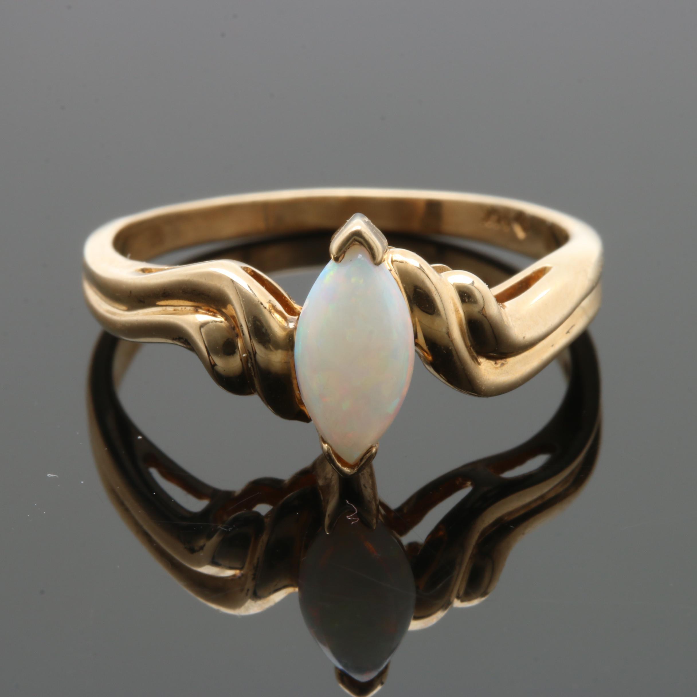 14K Yellow Gold Opal Ring