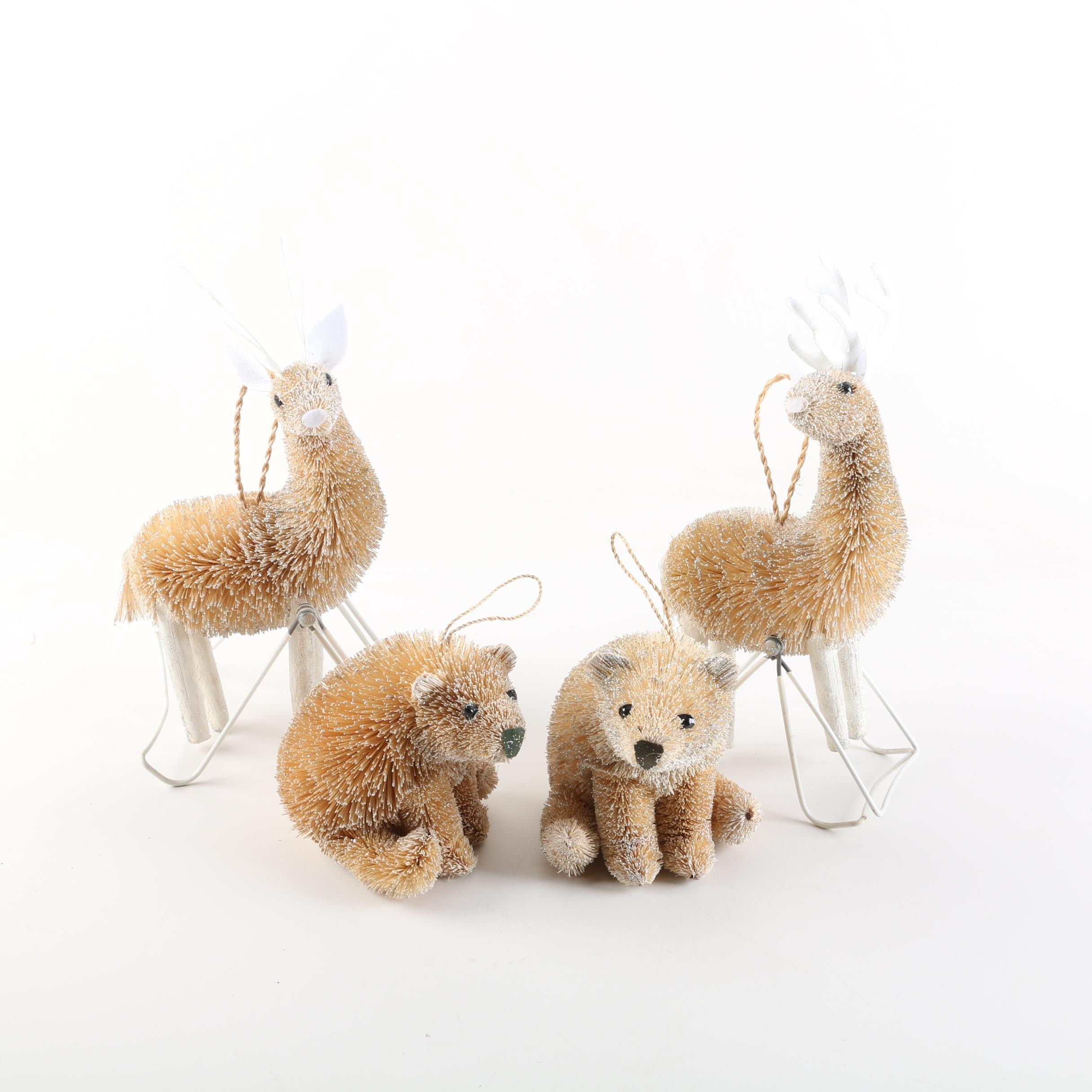 Bear and Reindeer Christmas Tree Ornaments