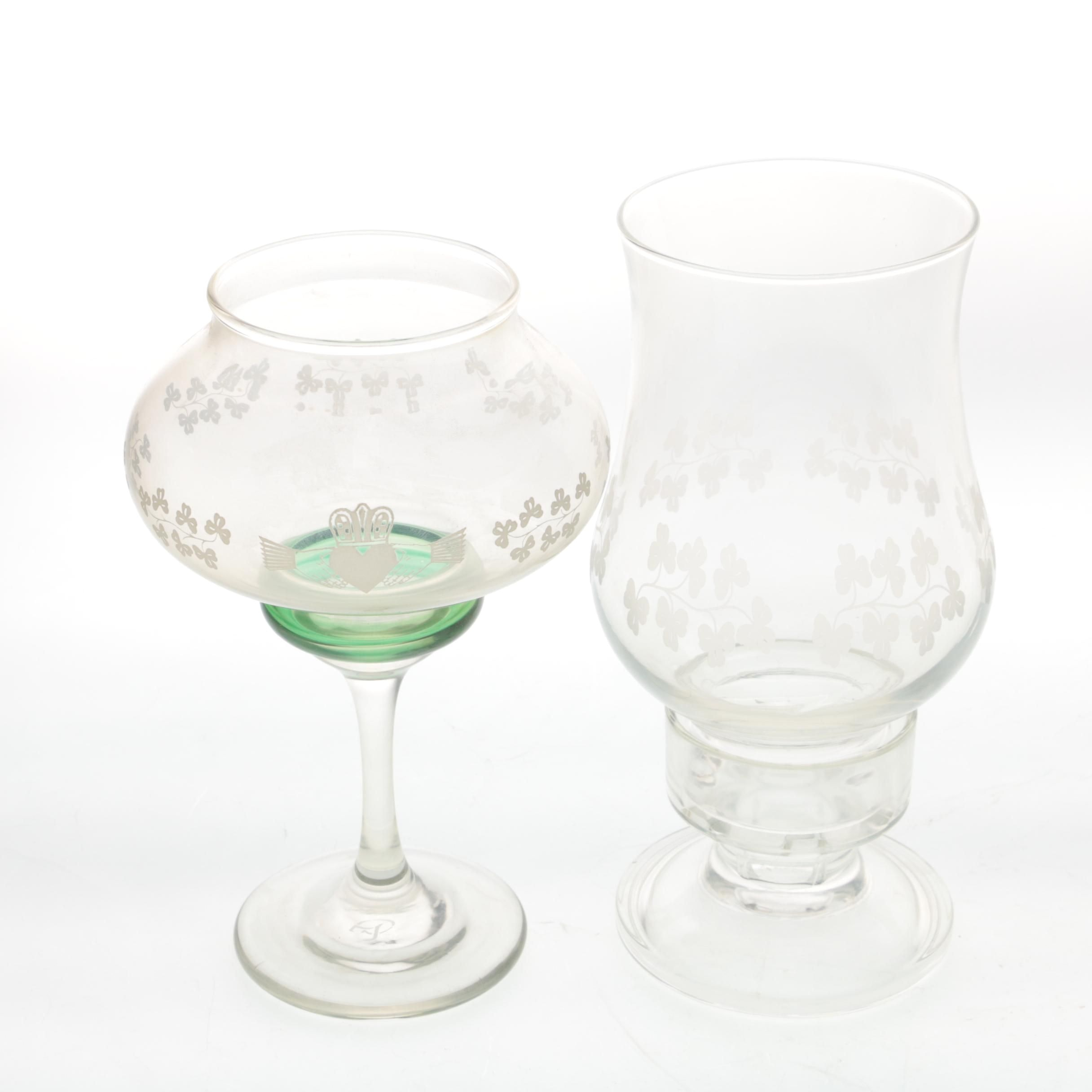 Glass Votive and Hurricane Candleholder