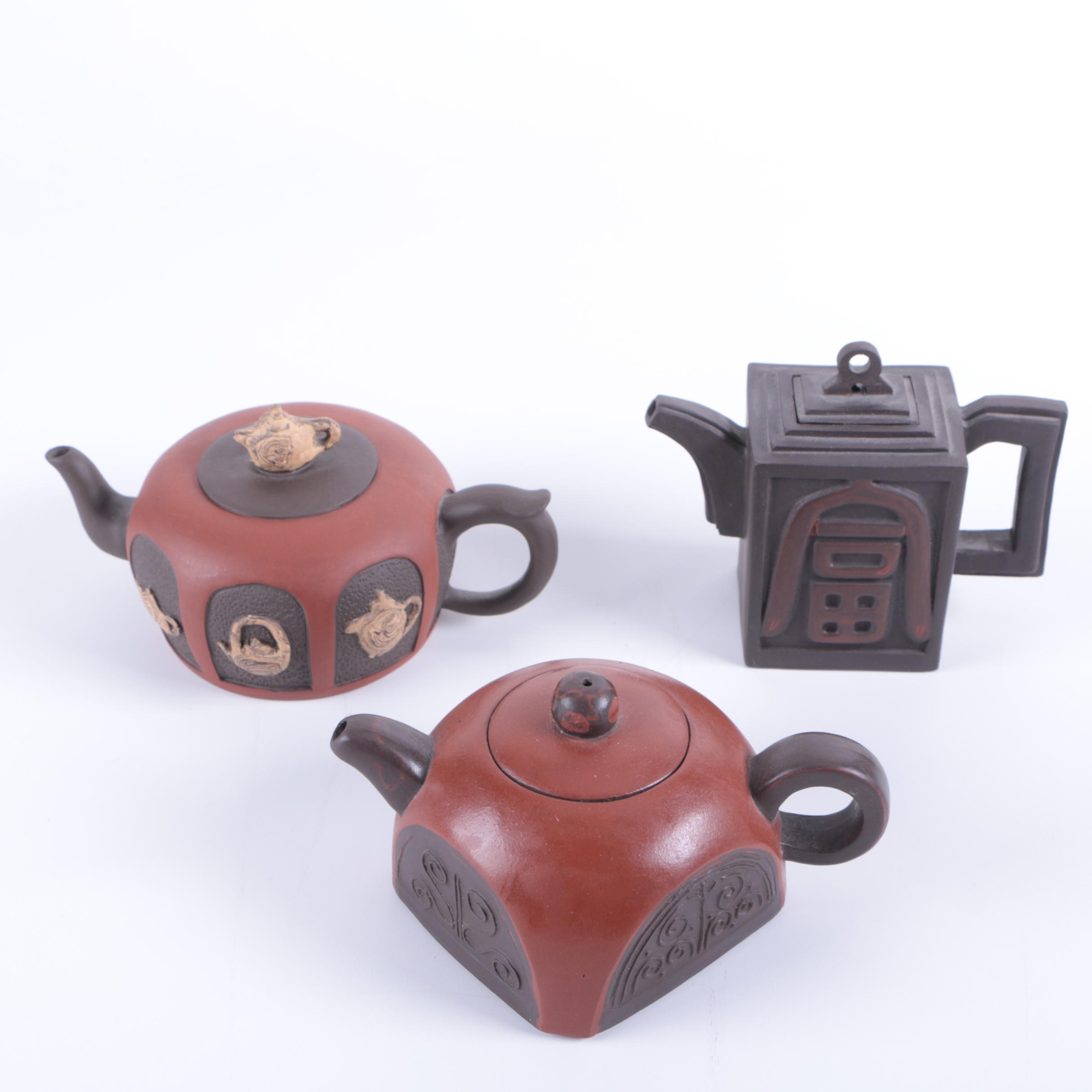 Chinese Yixing Style Ceramic Teapots