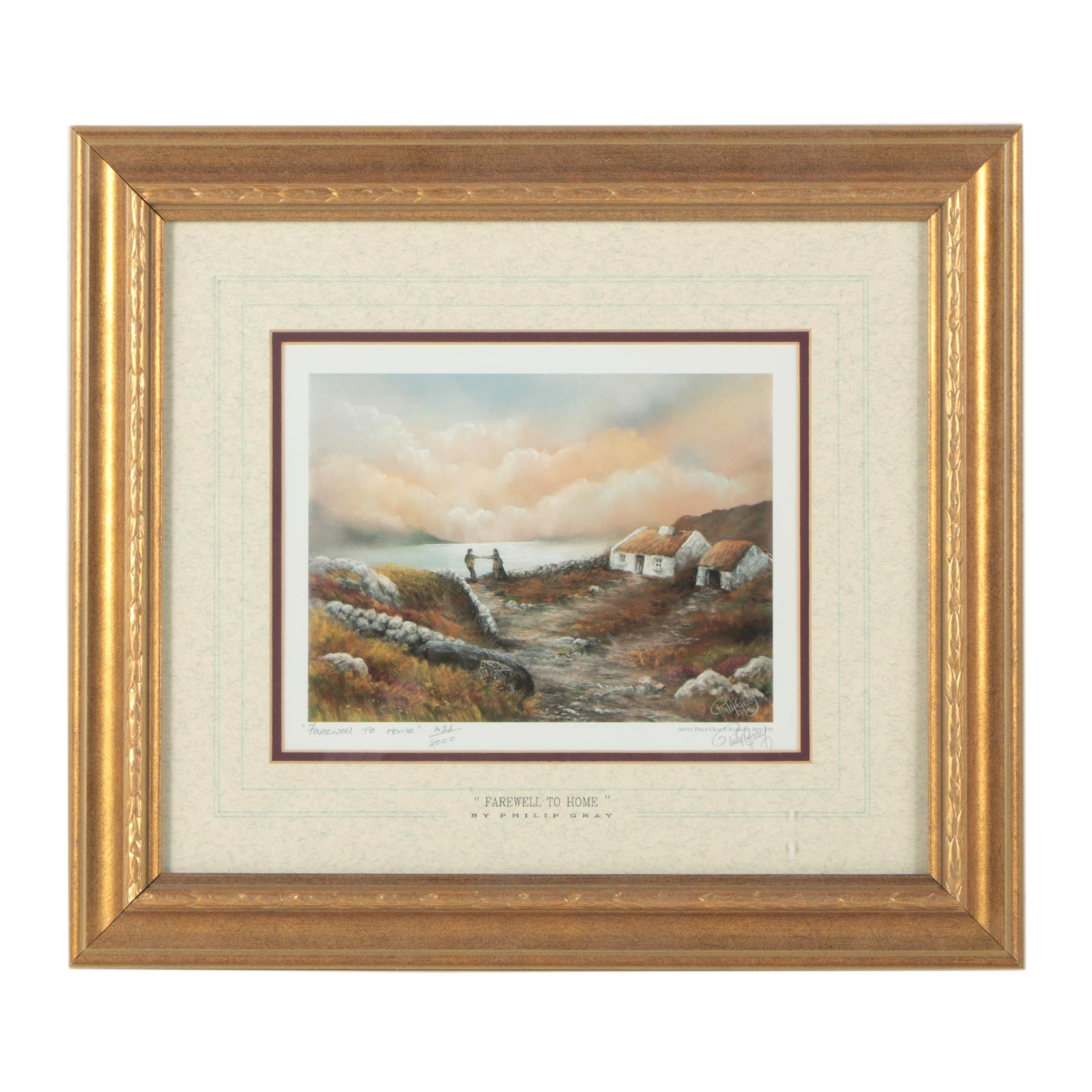 """Philip Gray Limited Edition Offset Lithograph """"Farewell To Home"""""""