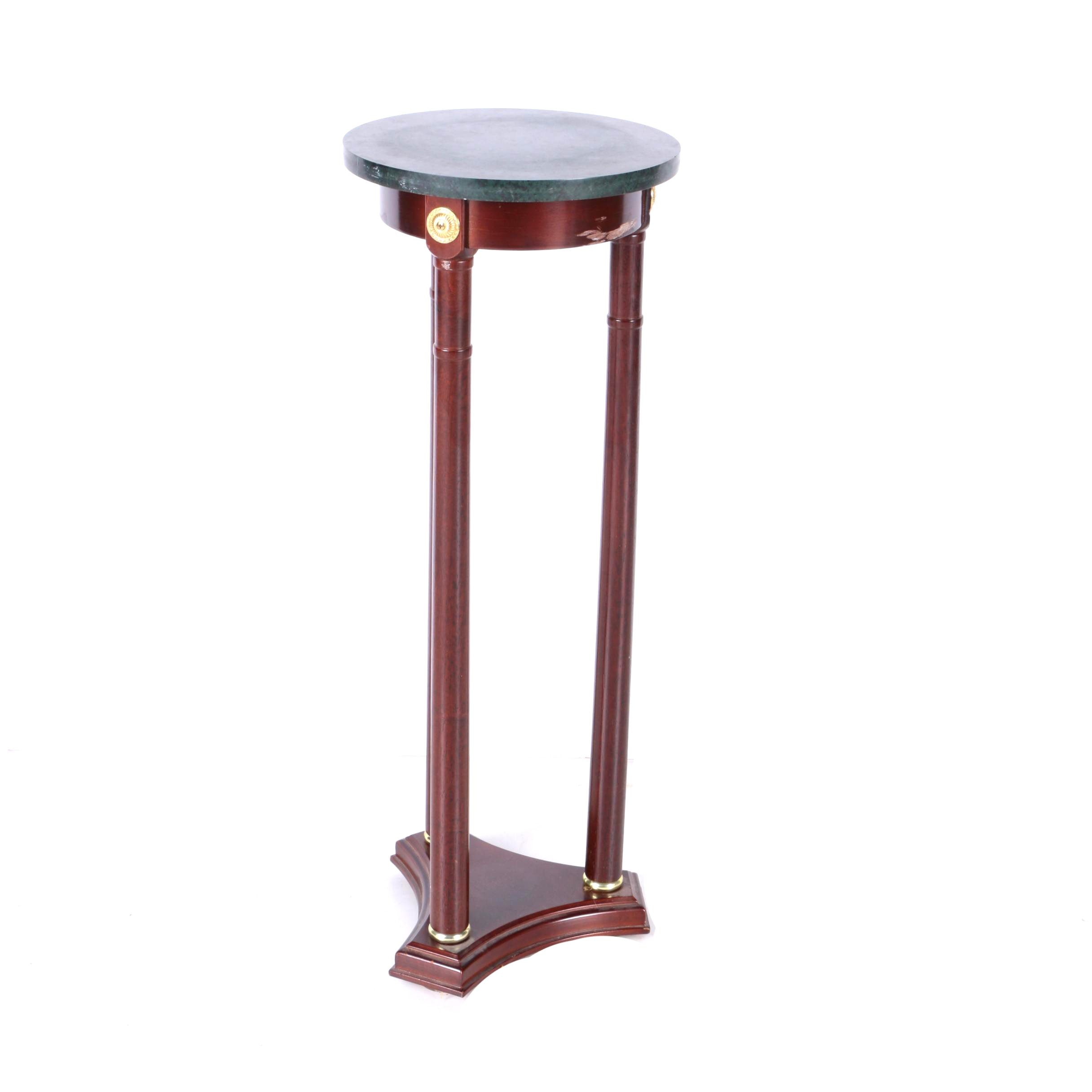Neoclassical Style Marble Top Pedestal Stand