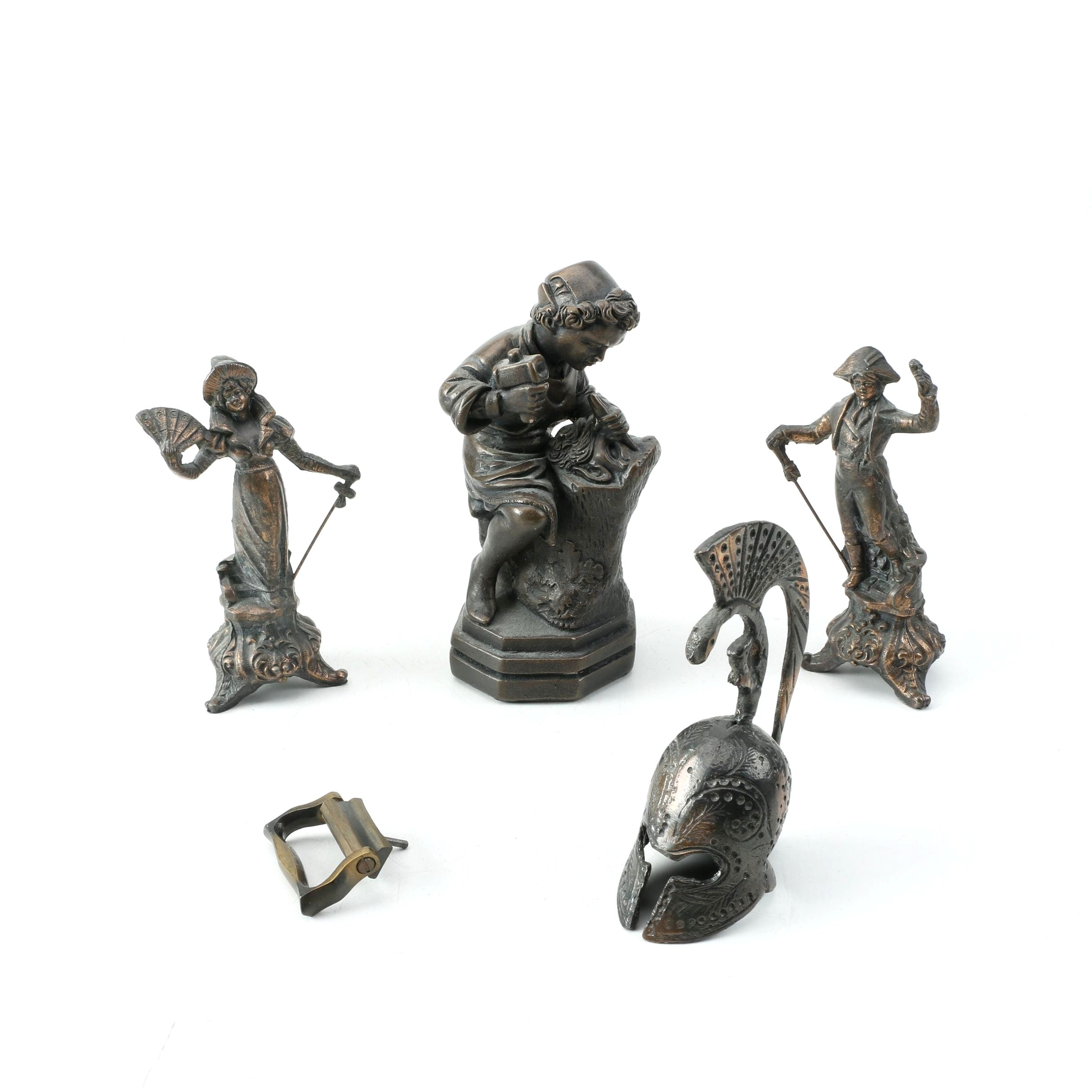 Metal Figurines and Pedal
