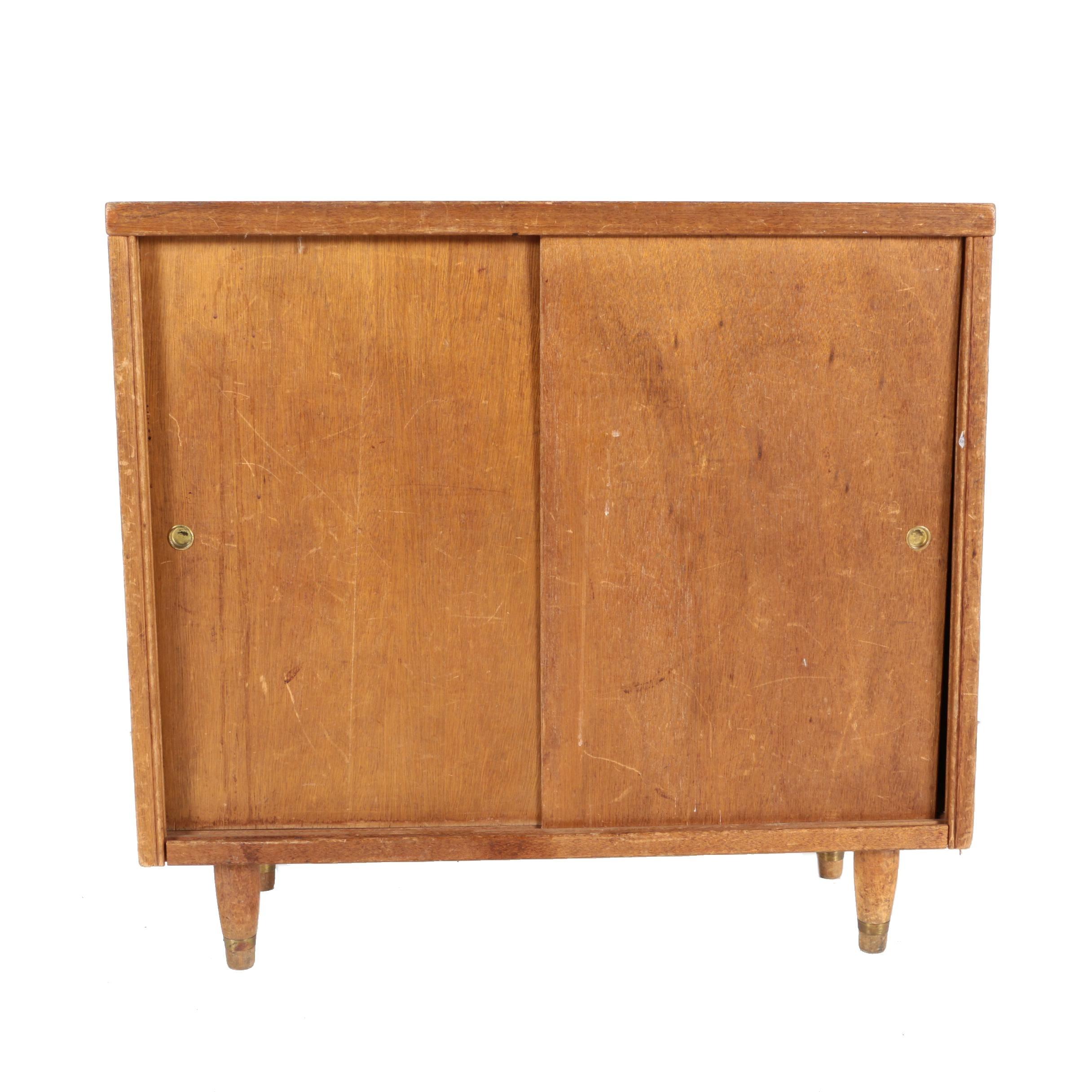 Mid Century Modern Walnut Cabinet