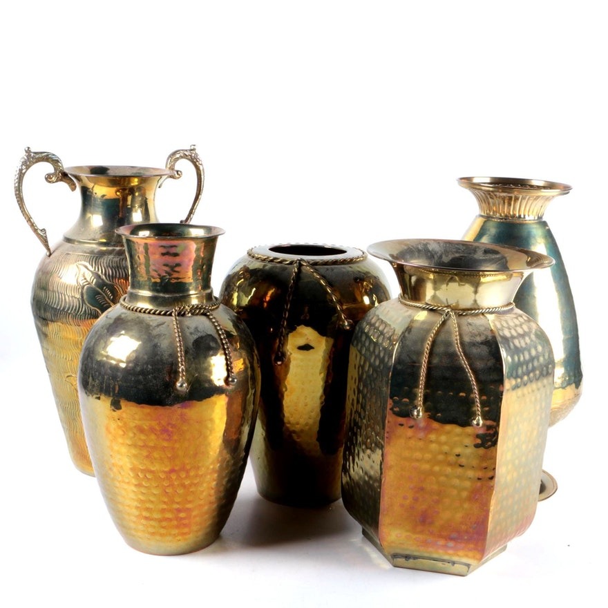 Indian Brass Vases Ebth