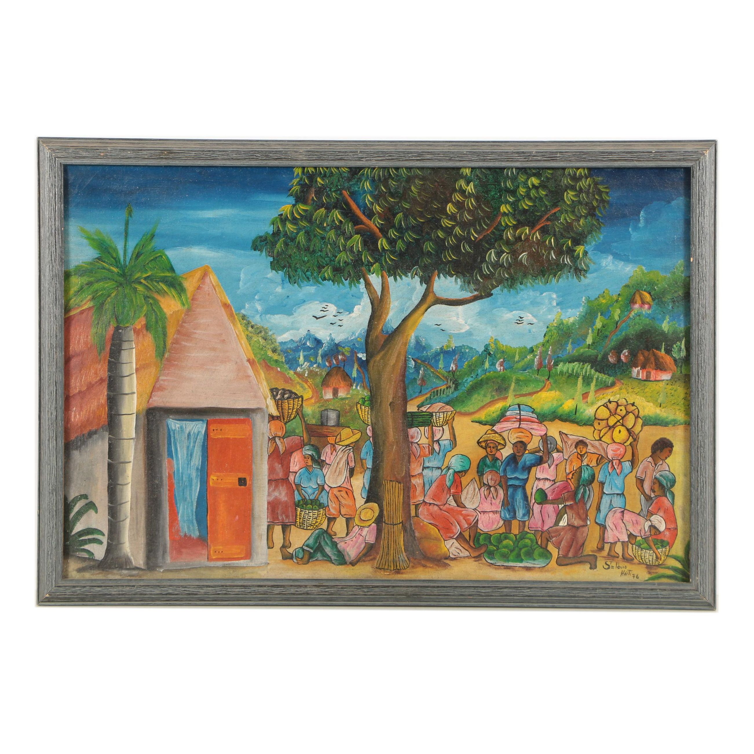Saint Louis Blaise Oil Painting of Haiti