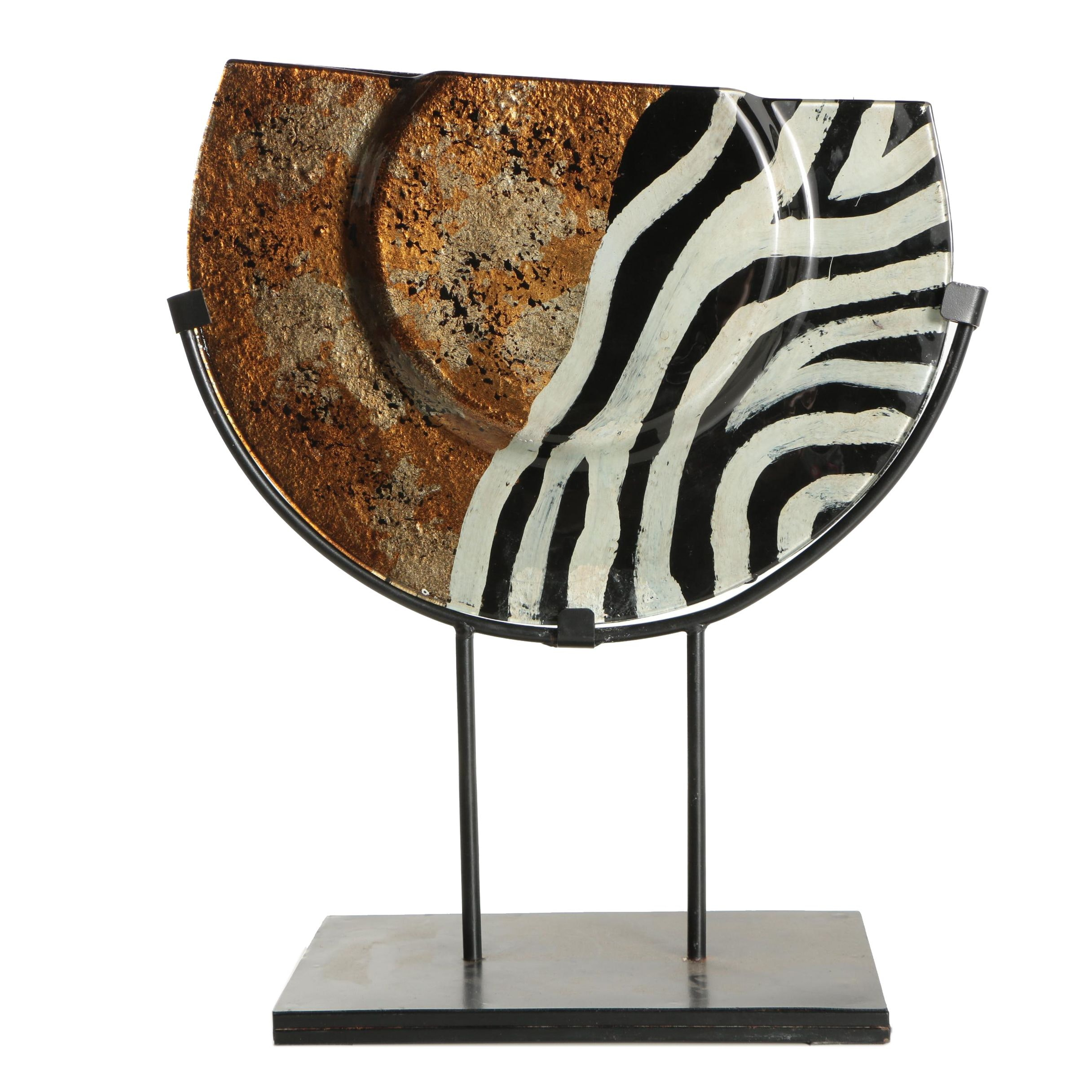 Glazed Metal Sculpture