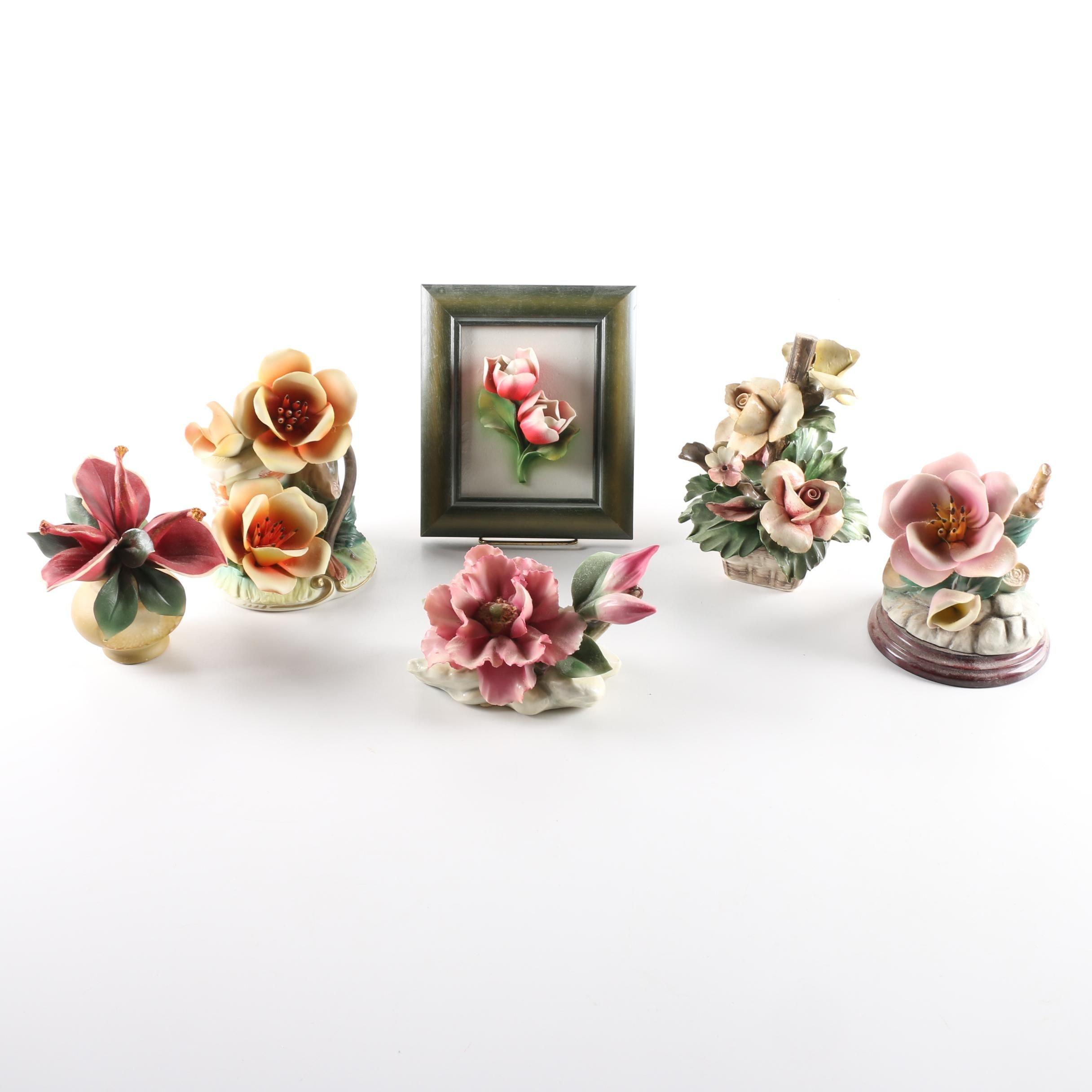 Capodimonte Flower Sculptures