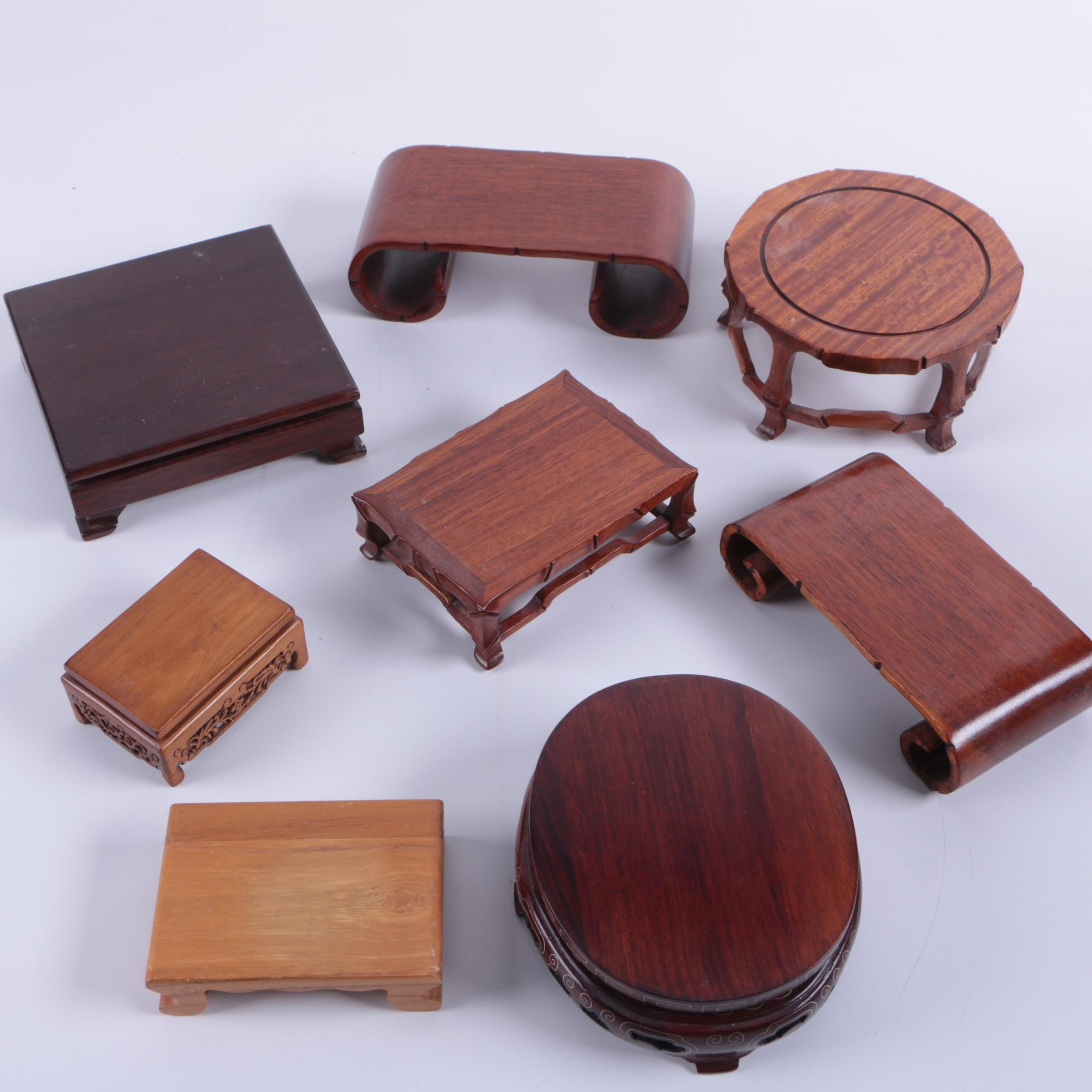 Chinese Carved Wood Stands