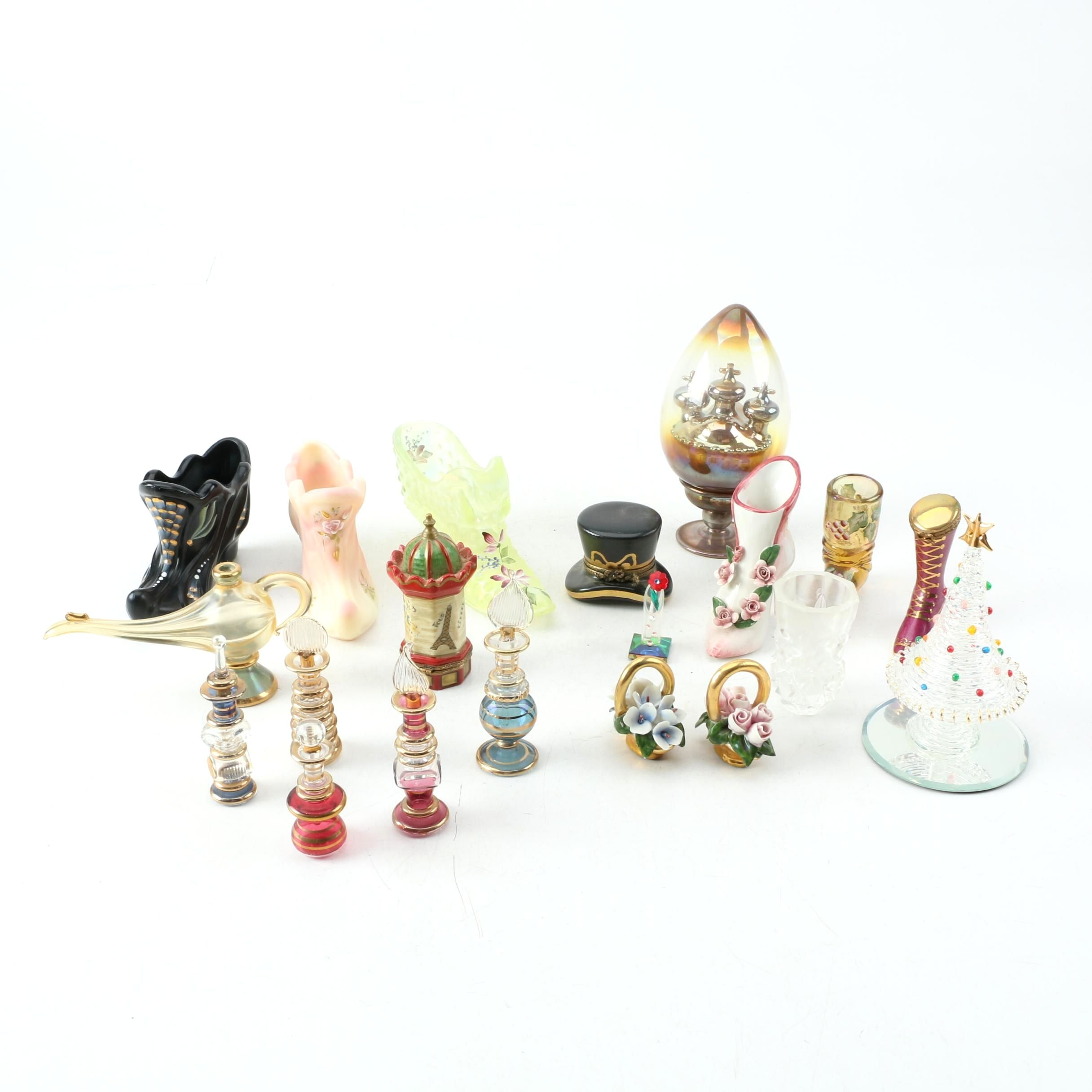 Ceramic and Glass Trinkets and Decorative Miniatures