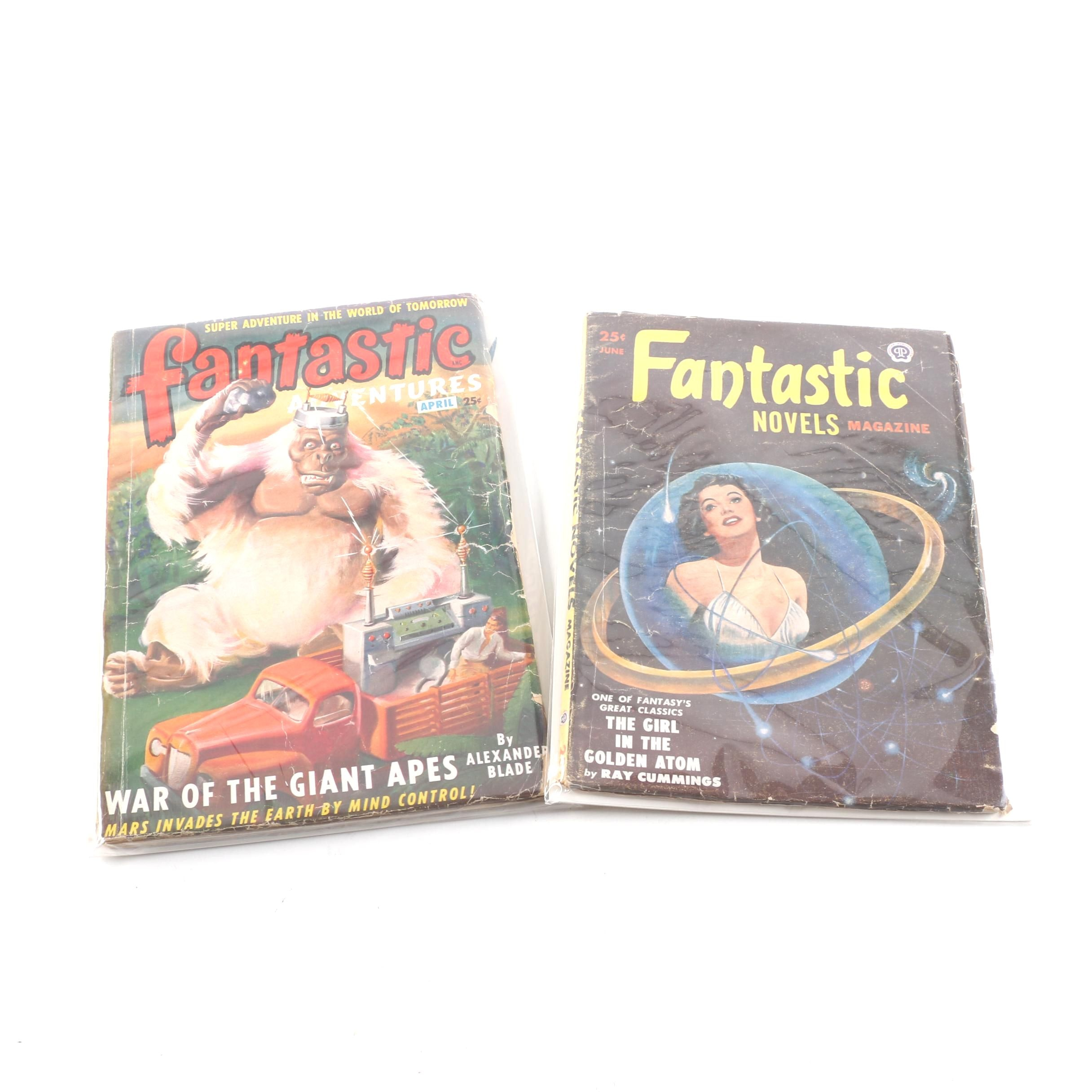 """Fantastic Adventures"" and ""Fantastic Novels"" Science Fiction Magazines"