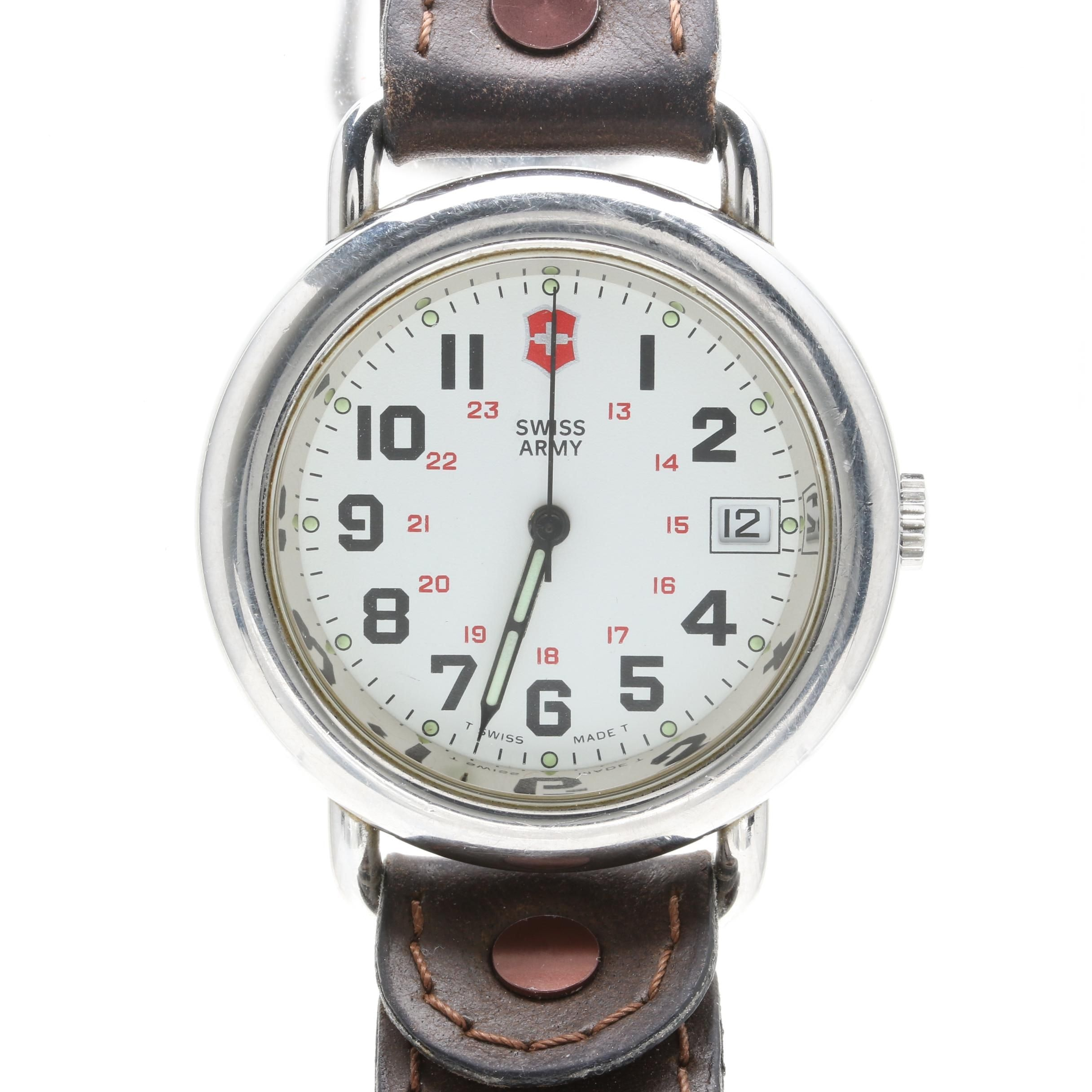 Swiss Army Silver Tone Wristwatch