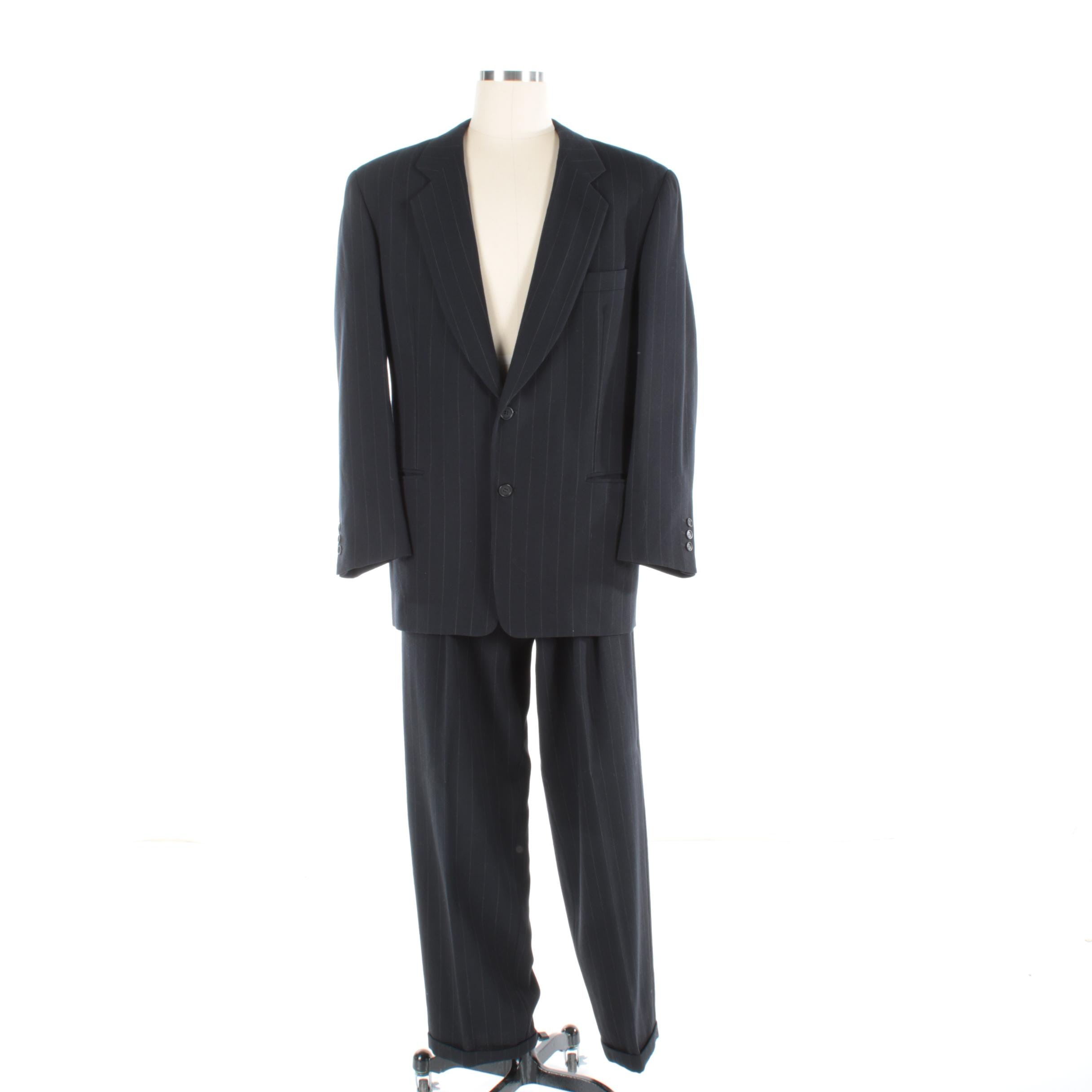 Men's Giorgio Armani Wool Blend Pinstripe Suit