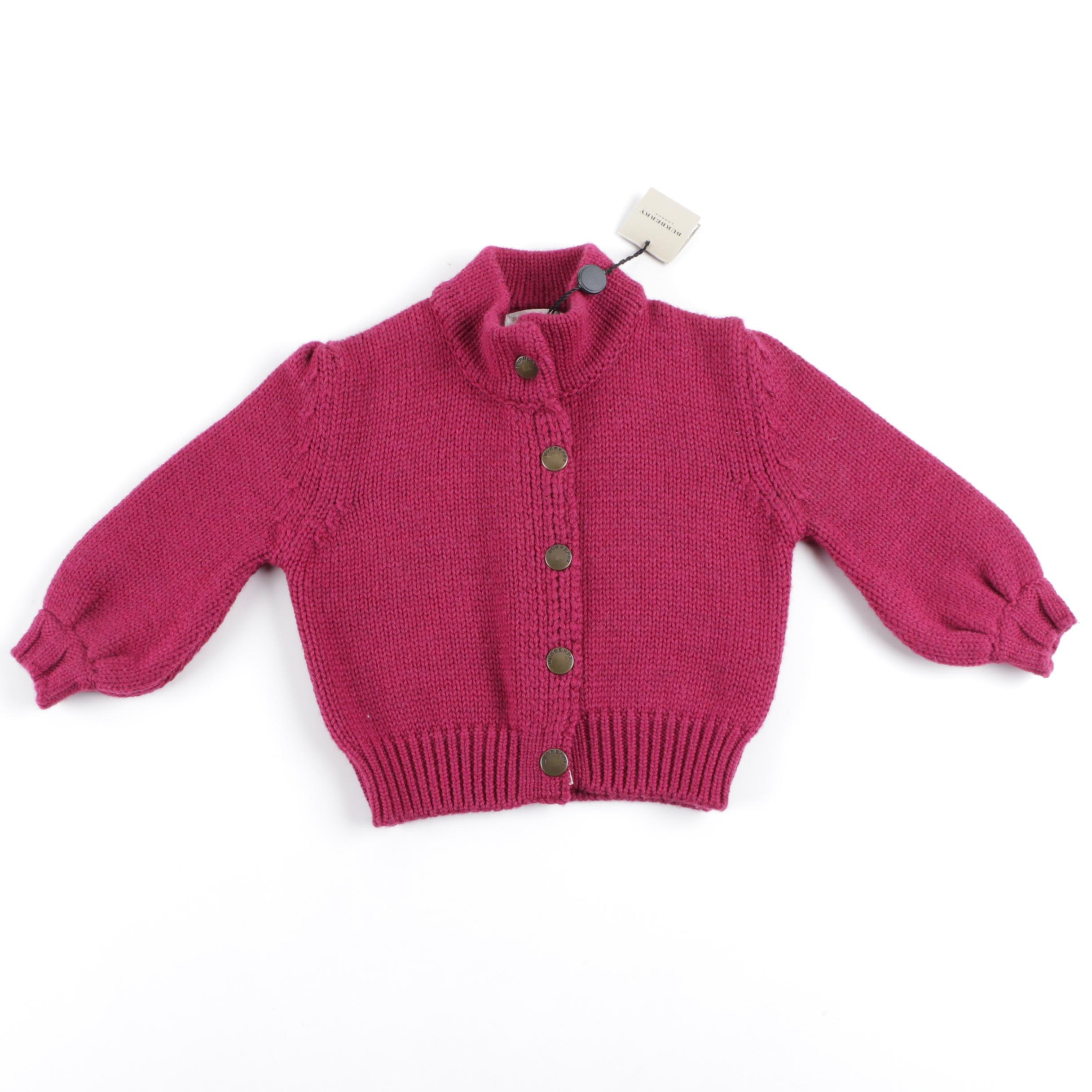 Girl's Burberry Knit Wool Sweater