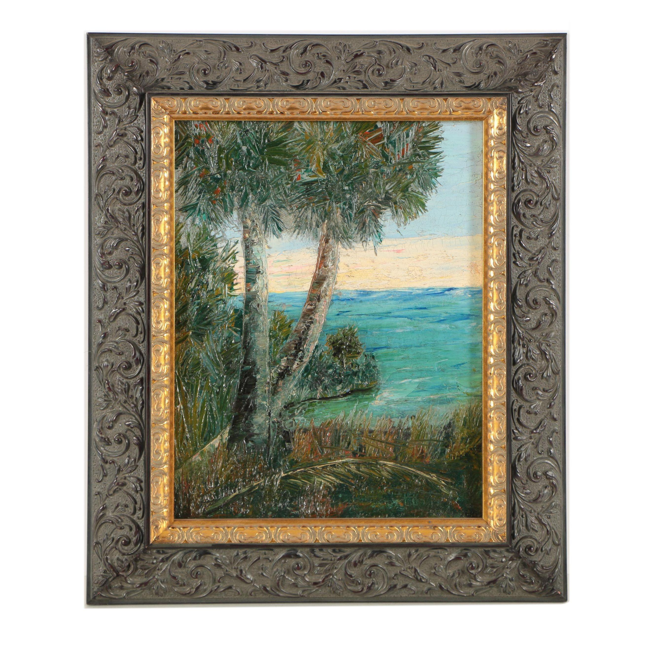 Catherine L. Condra Oil Painting Tropical Landscape