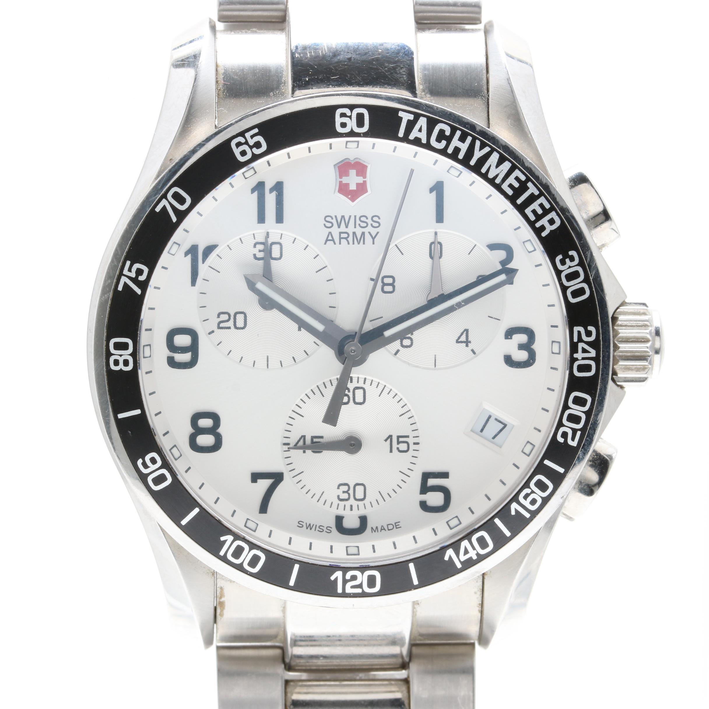 Swiss Army Stainless Steel Chronograph Wristwatch