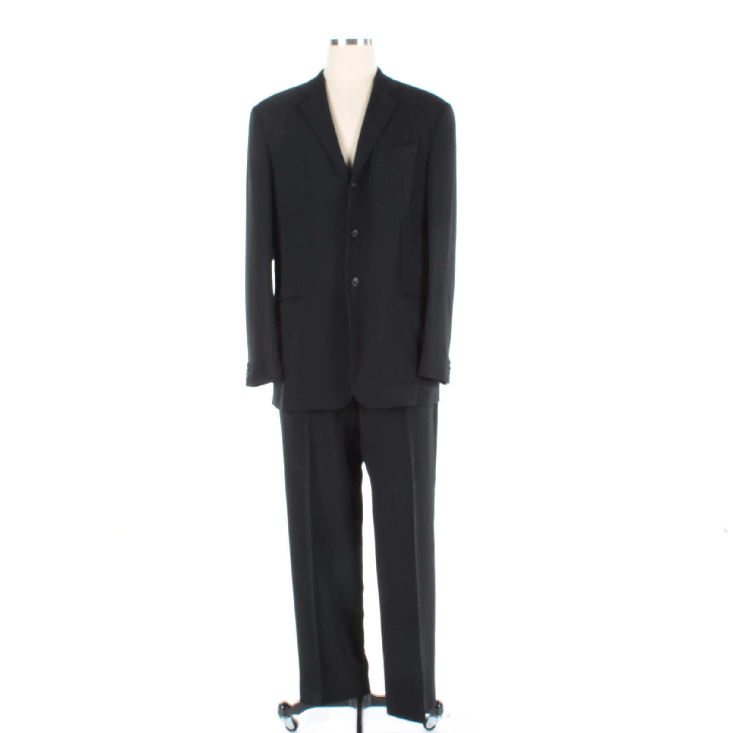 Men's Giorgio Armani Black Wool Suit
