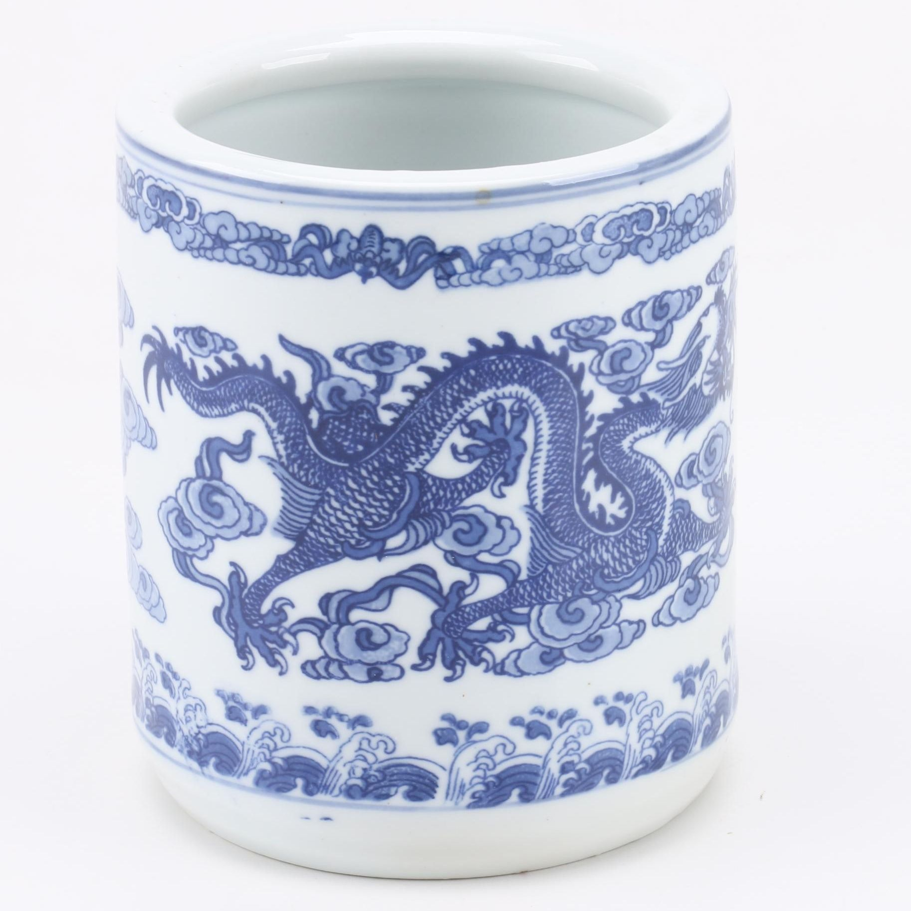 Chinese White and Blue Ceramic Vase