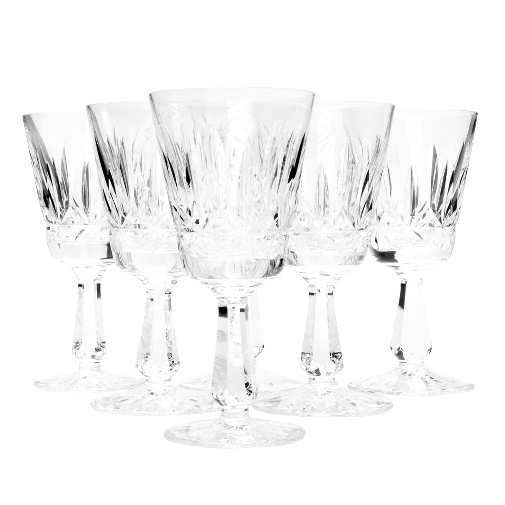 """Waterford Crystal """"Rosslare"""" Claret Wine Glasses"""