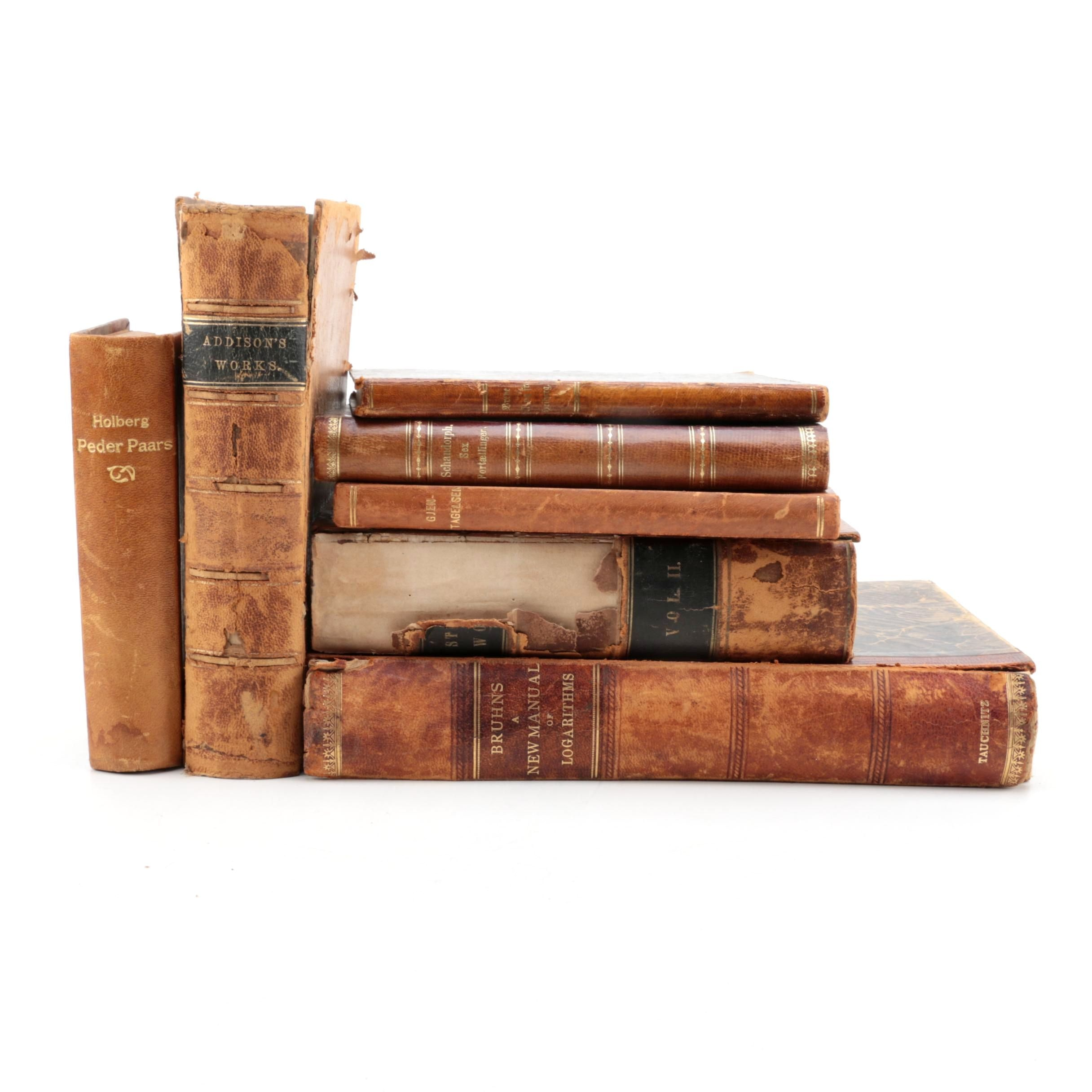 Antique Leather Bound Books