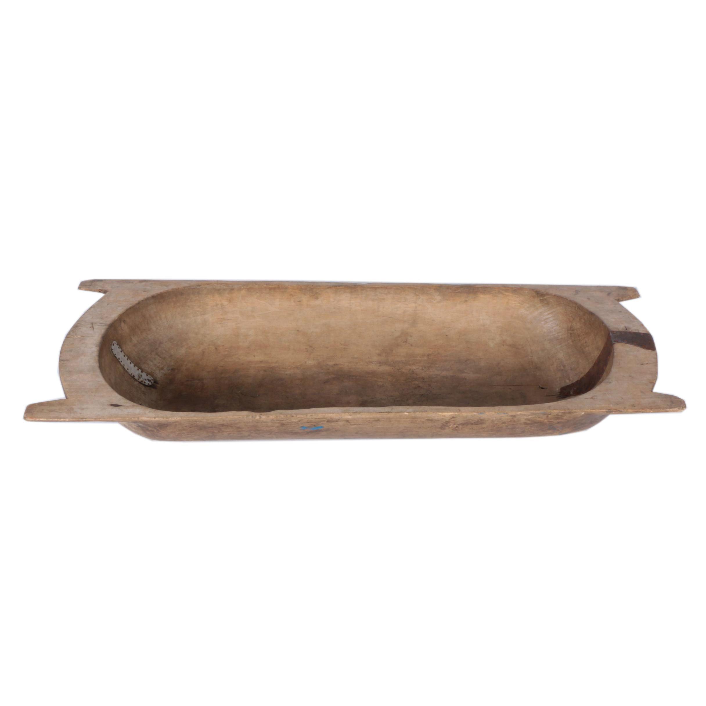 Antique Wooden Dough Bowl Trencher