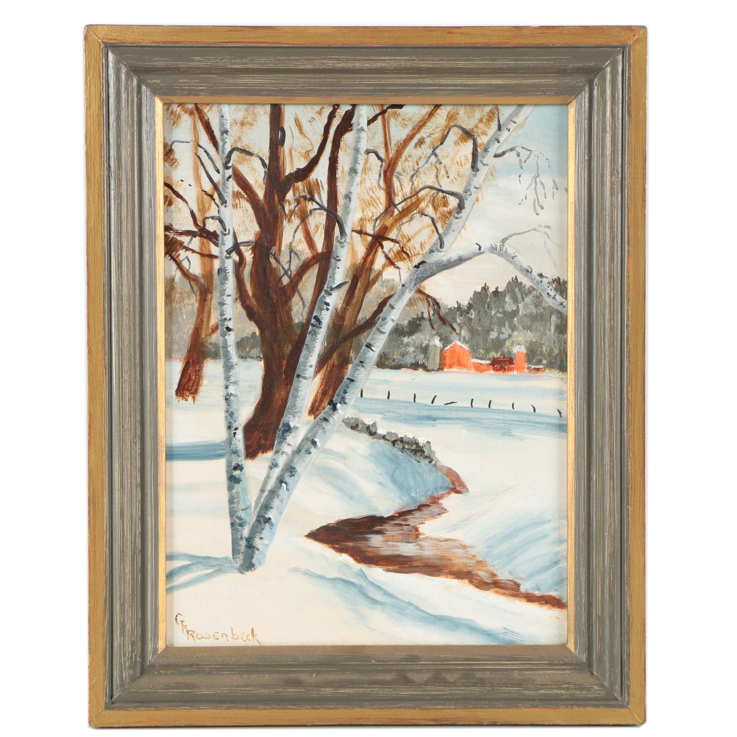 "George K. Rosenbeck Oil Painting ""Torrington, Connecticut"""