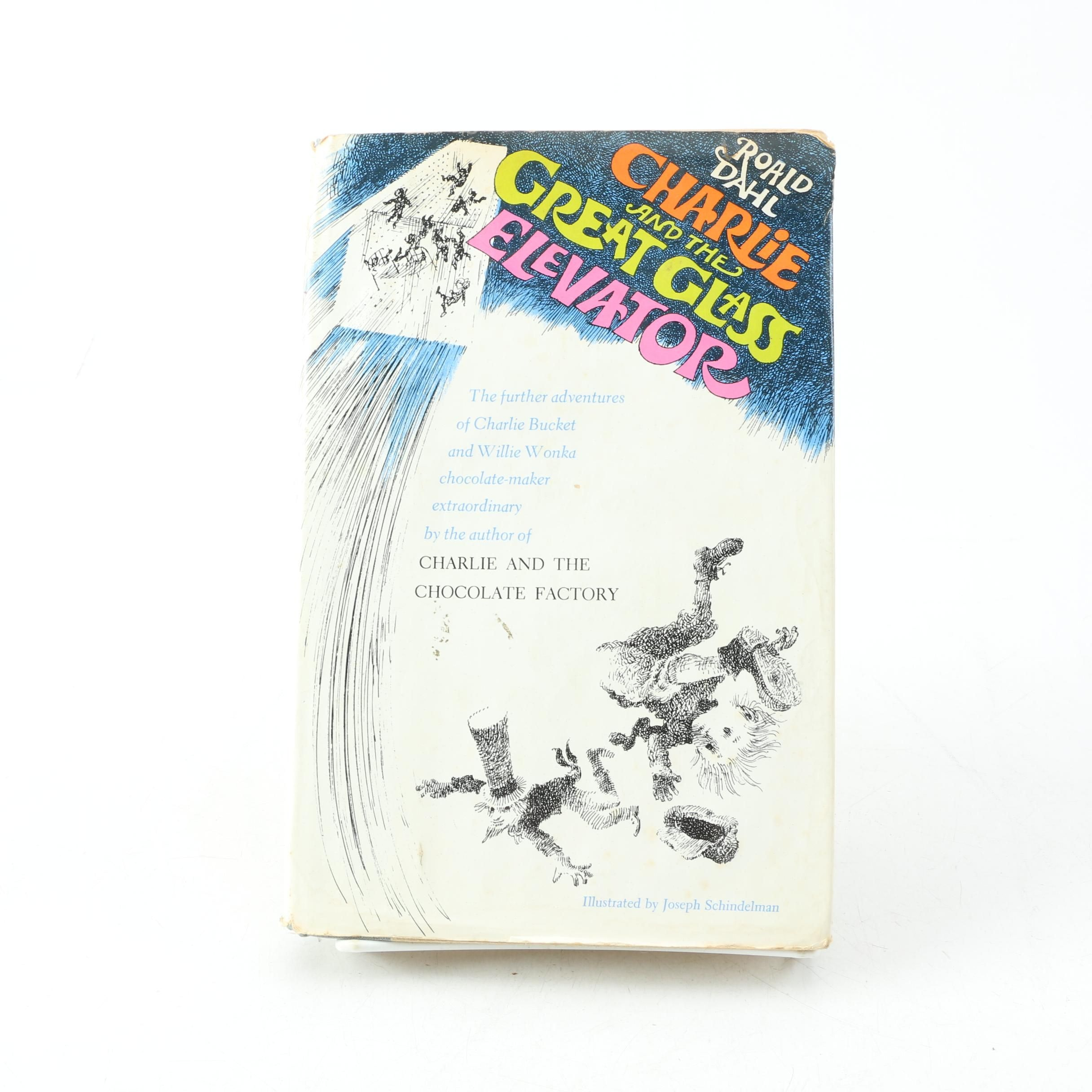 """1972 First Edition """"Charlie and the Great Glass Elevator"""" by Roald Dahl"""