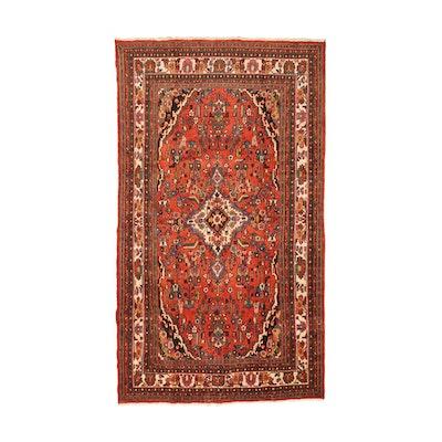 Hand Knotted Persian Hamadan Wool Area Rug
